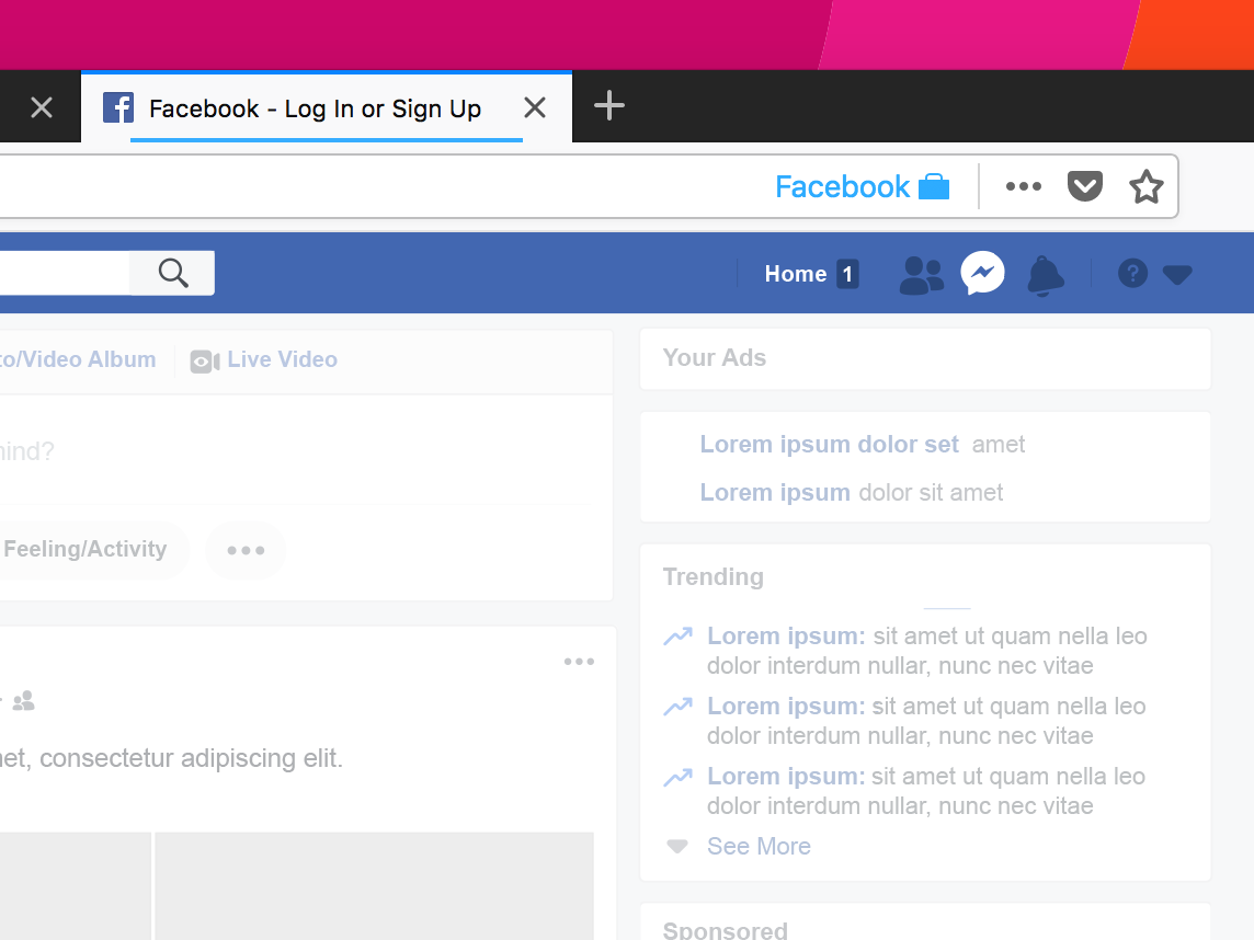 Using Facebook in Firefox (Mozilla Firefox)