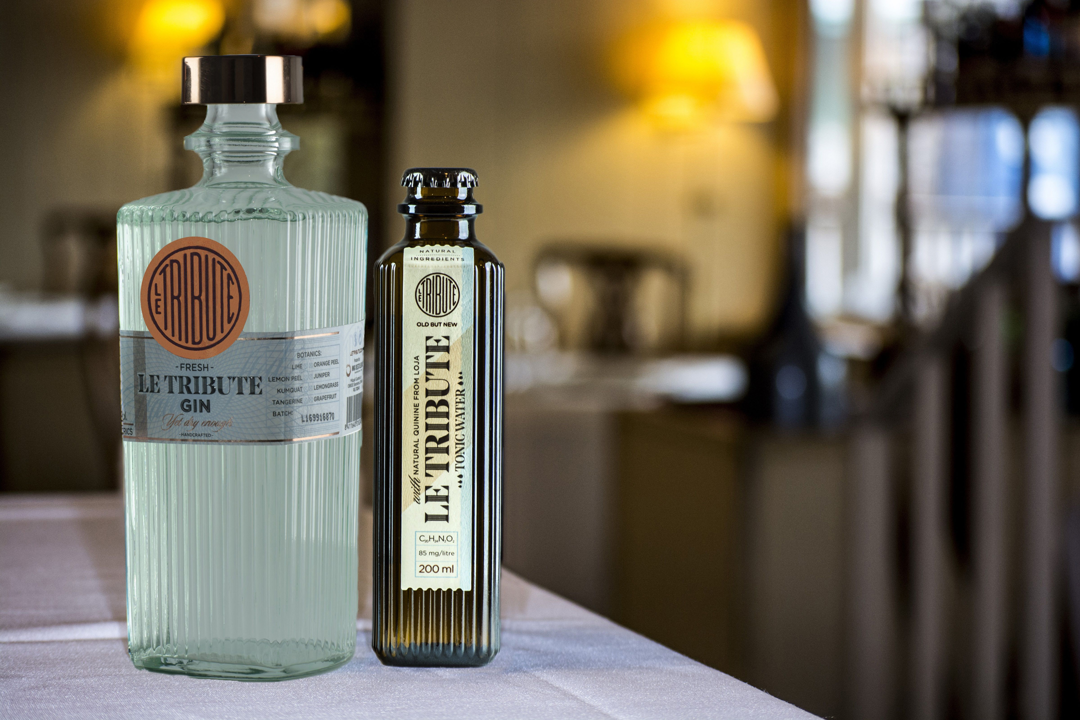 Le Tribute Gin and Le Tribute Tonic Water