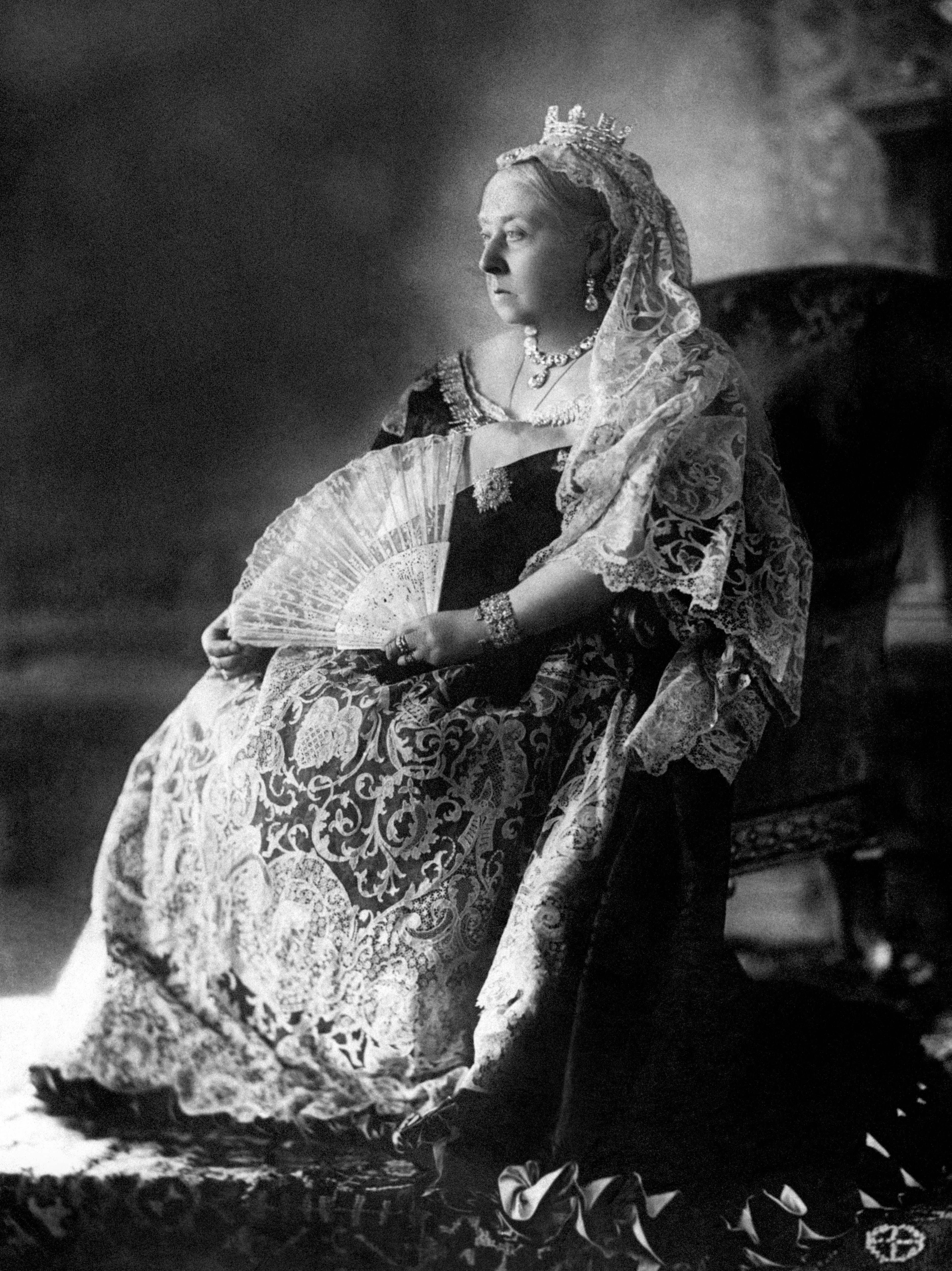 Queen Victoria's Diamond Jubilee photographic portrait. (PA)