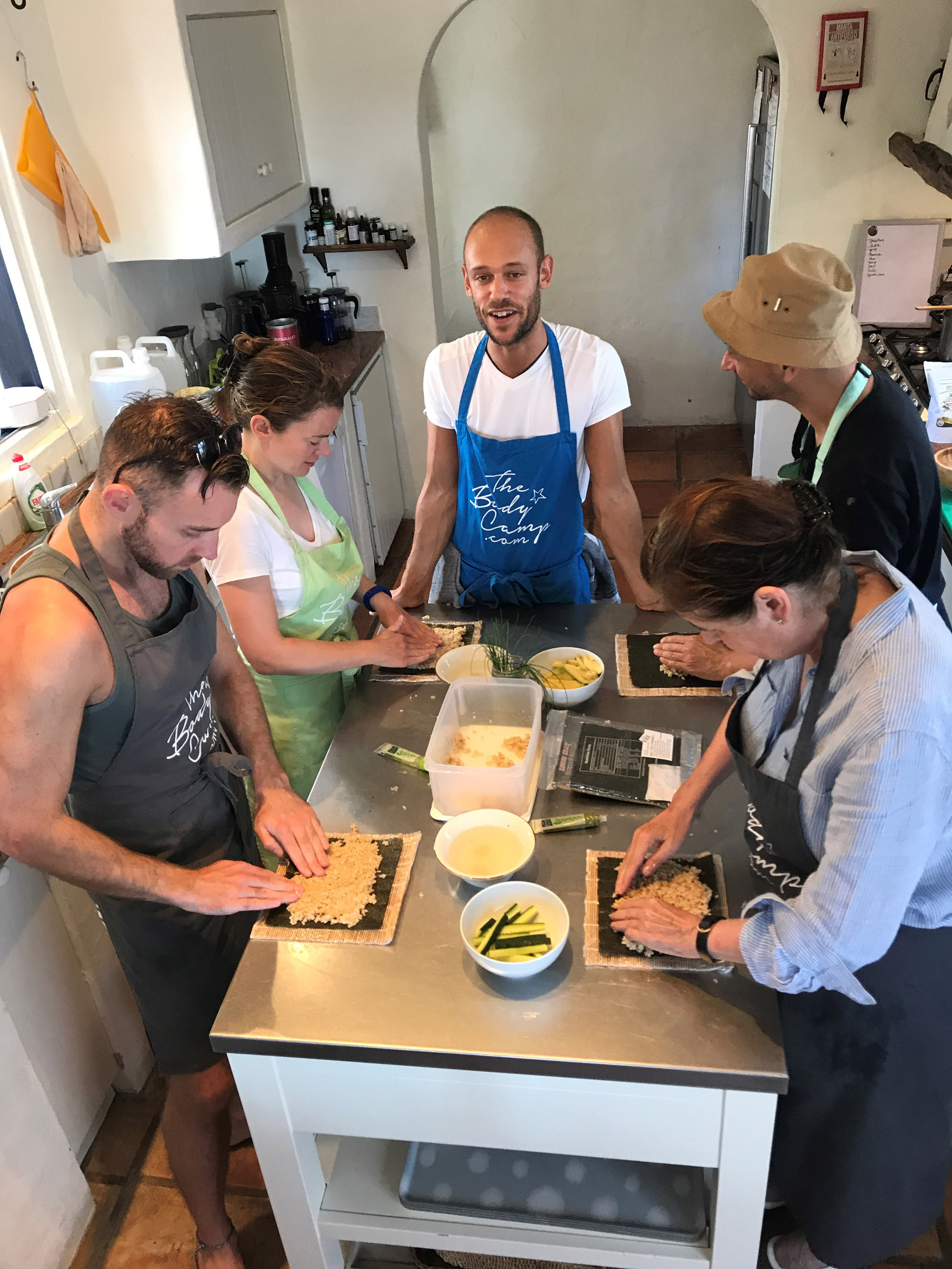 Learning to cook sushi with chef and nutrionist, Ben Whale (PA)
