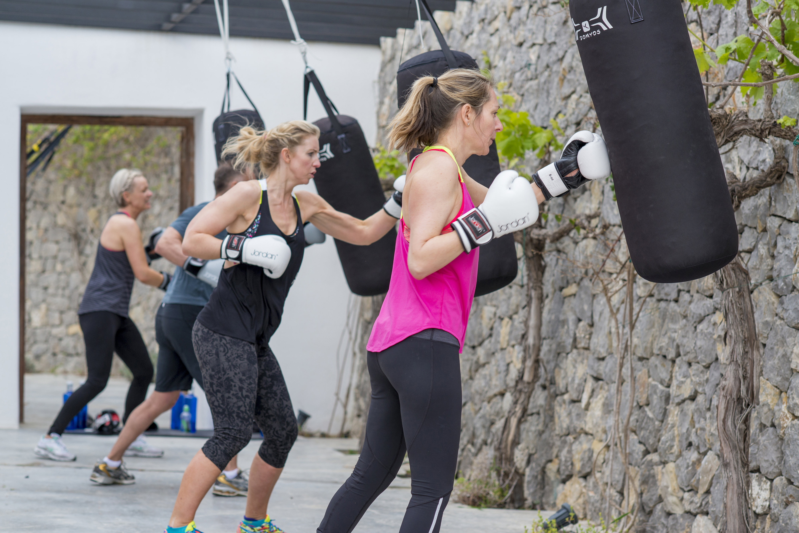 A work out session with punch bags (The Body Camp/PA)