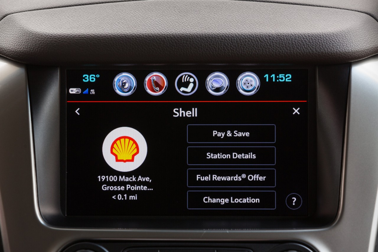 Chevrolet and Shell let you pay for gas from inside the auto