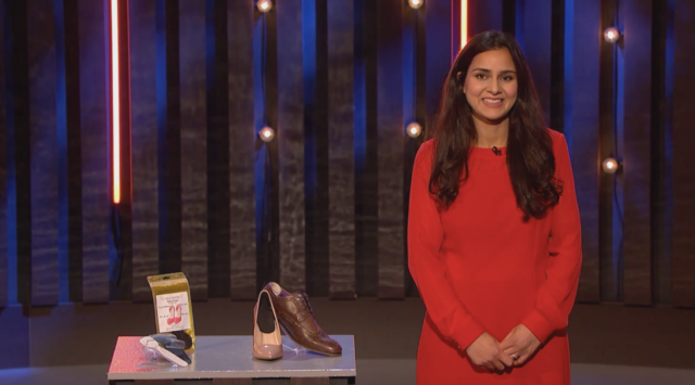 Buy It Now contestant Sylvia, who walked away with a life-changing retail order after impressing with her blister product (Channel 4/PA)