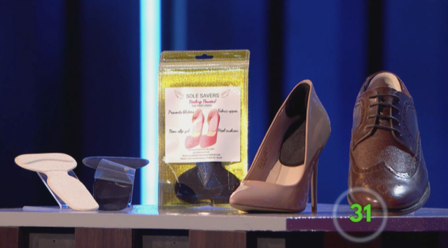 Sylvia impressed retailers with her product Heeling Powers, which is used to prevent blisters on your feet (Channel 4/PA)