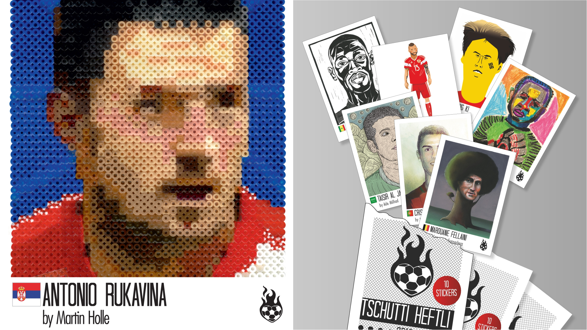 Alternative World Cup stickers from Tschutti Heftli's album