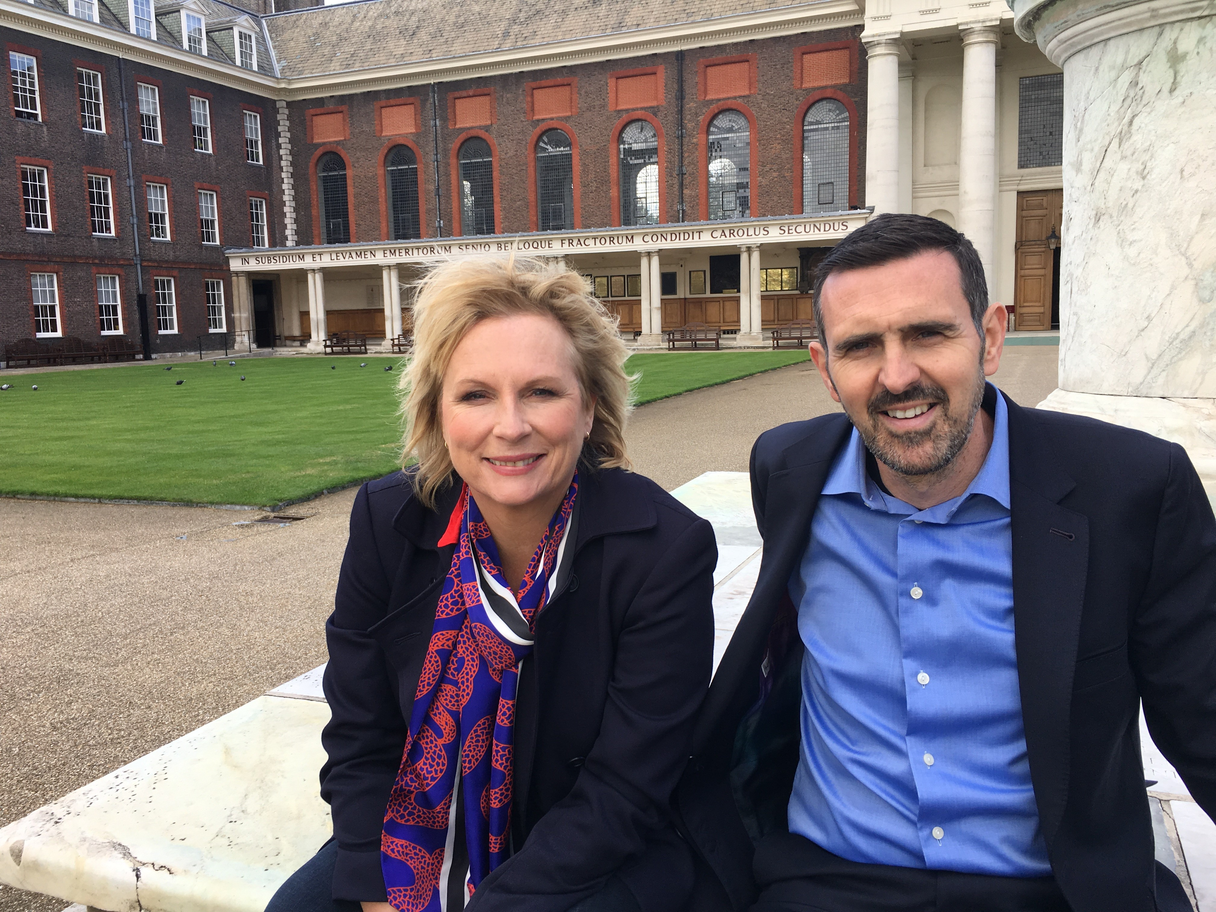 Jennifer Saunders and Adam Frost (BBC)