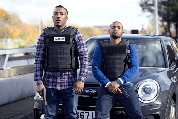 Ashley Walters,and Noel Clarke star in new police series Bulletproof.