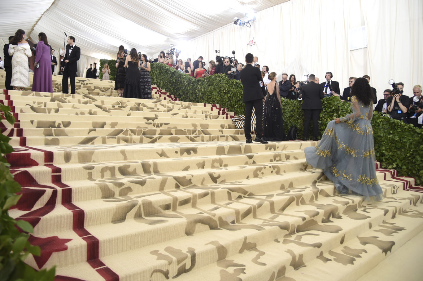 Media appear on the carpet before The Metropolitan Museum of Art's Costume Institute benefit gala (Evan Agostini/Invision/AP)