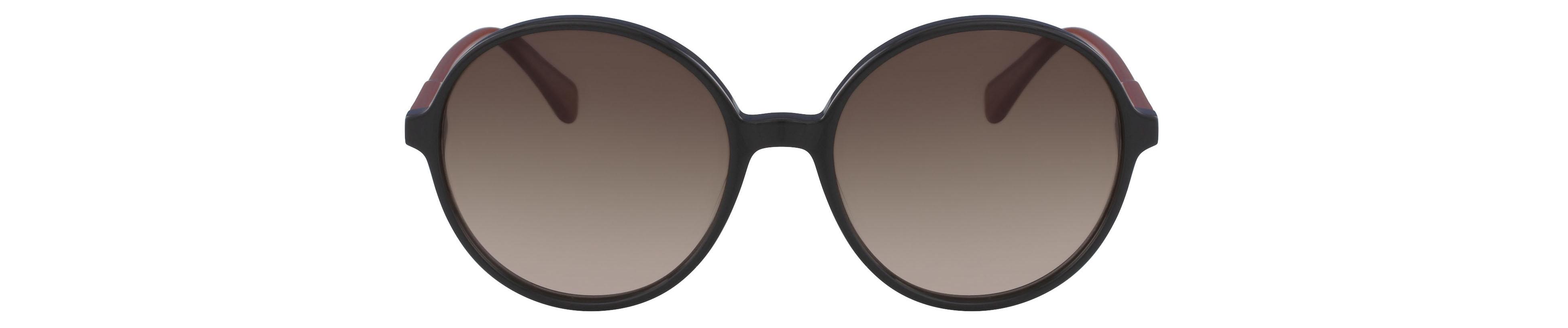 Longchamp Round Frame Classic Black Sunglasses