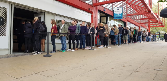 Arctic Monkeys line up to buy the bands new album in Sheffield.