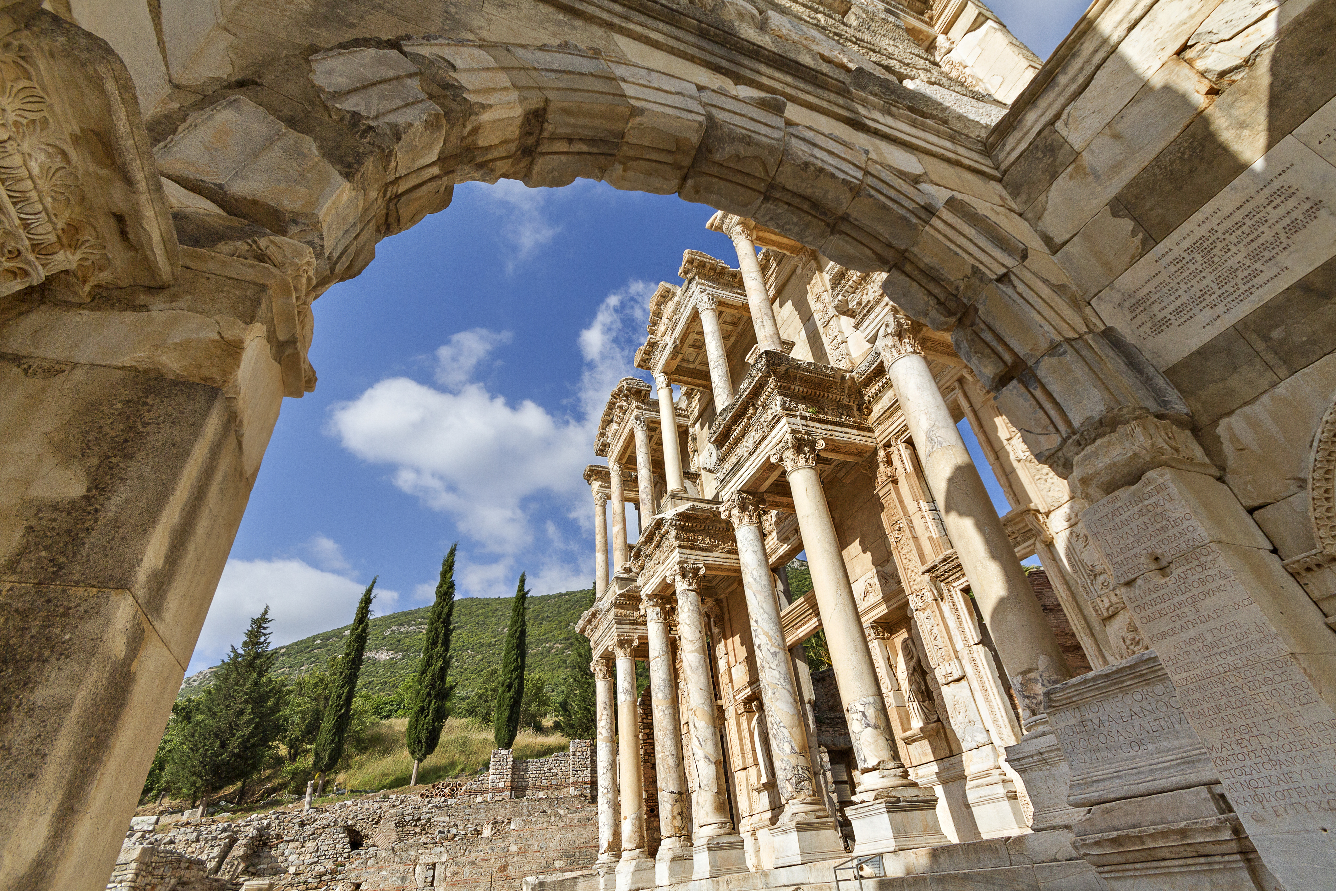 Roman library of Celsus in the ruins of Ephesus, Turkey (Thinkstock/PA)
