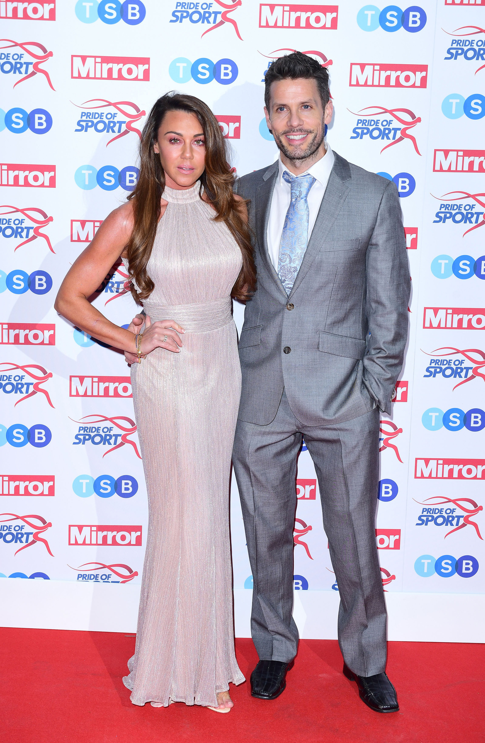 Michelle Heaton and Hugh Hanley at the Pride of Sport awards, London in November