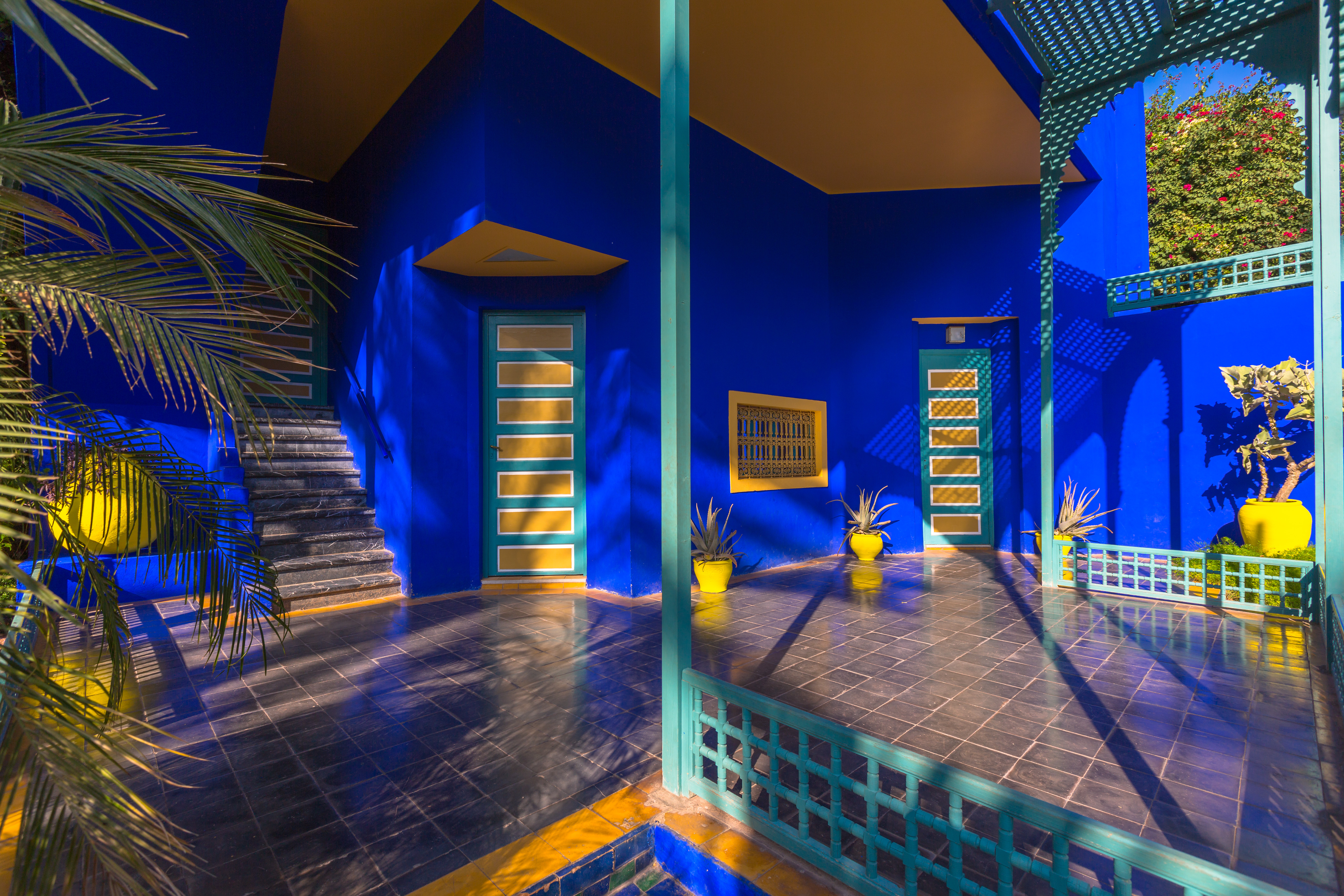 The vibrant blue walls of the Jardin Majorelle in Marrakech (The Greenhouse People/PA)