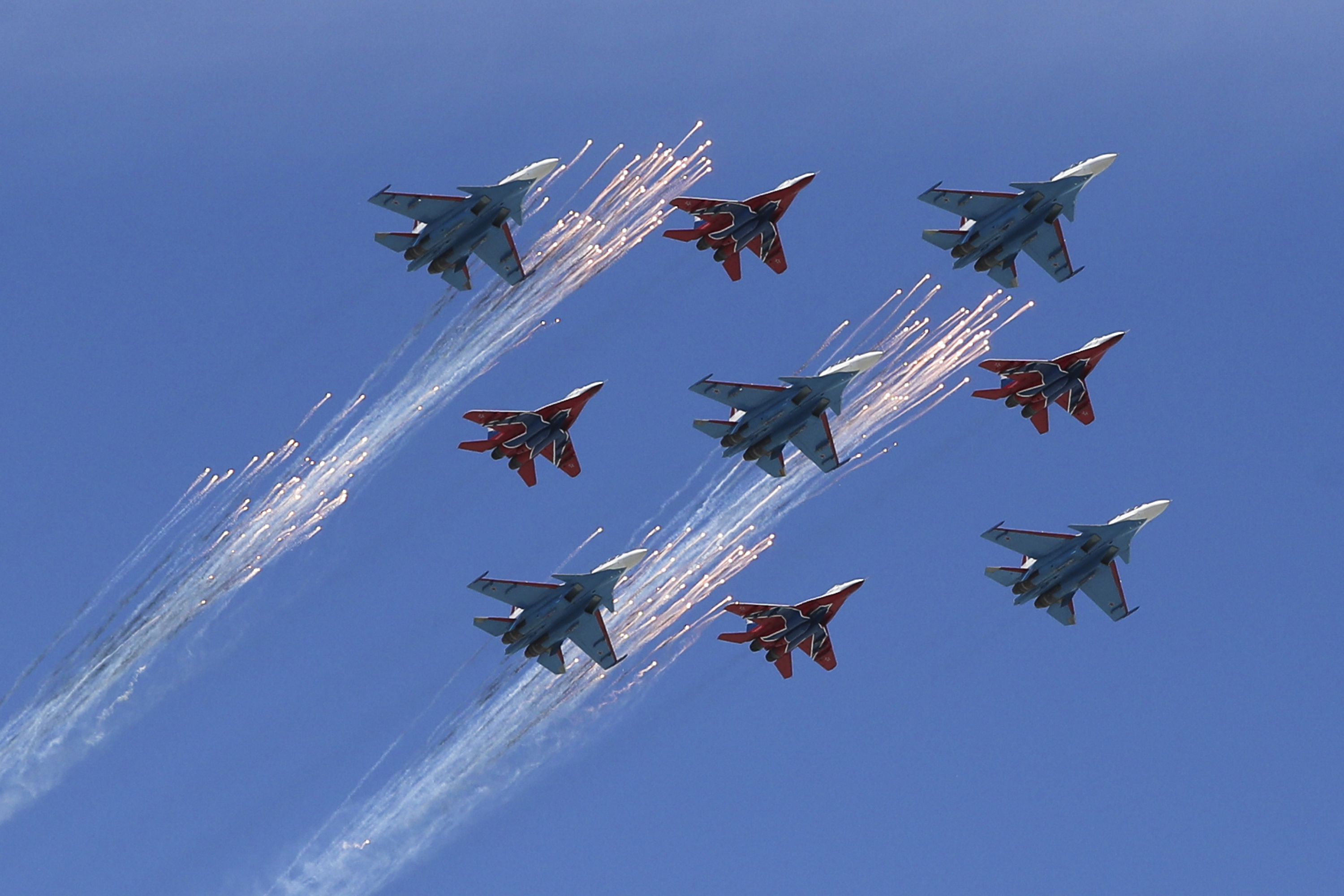 Mr Putin said the Russian air force would receive 160 new aircraft this year