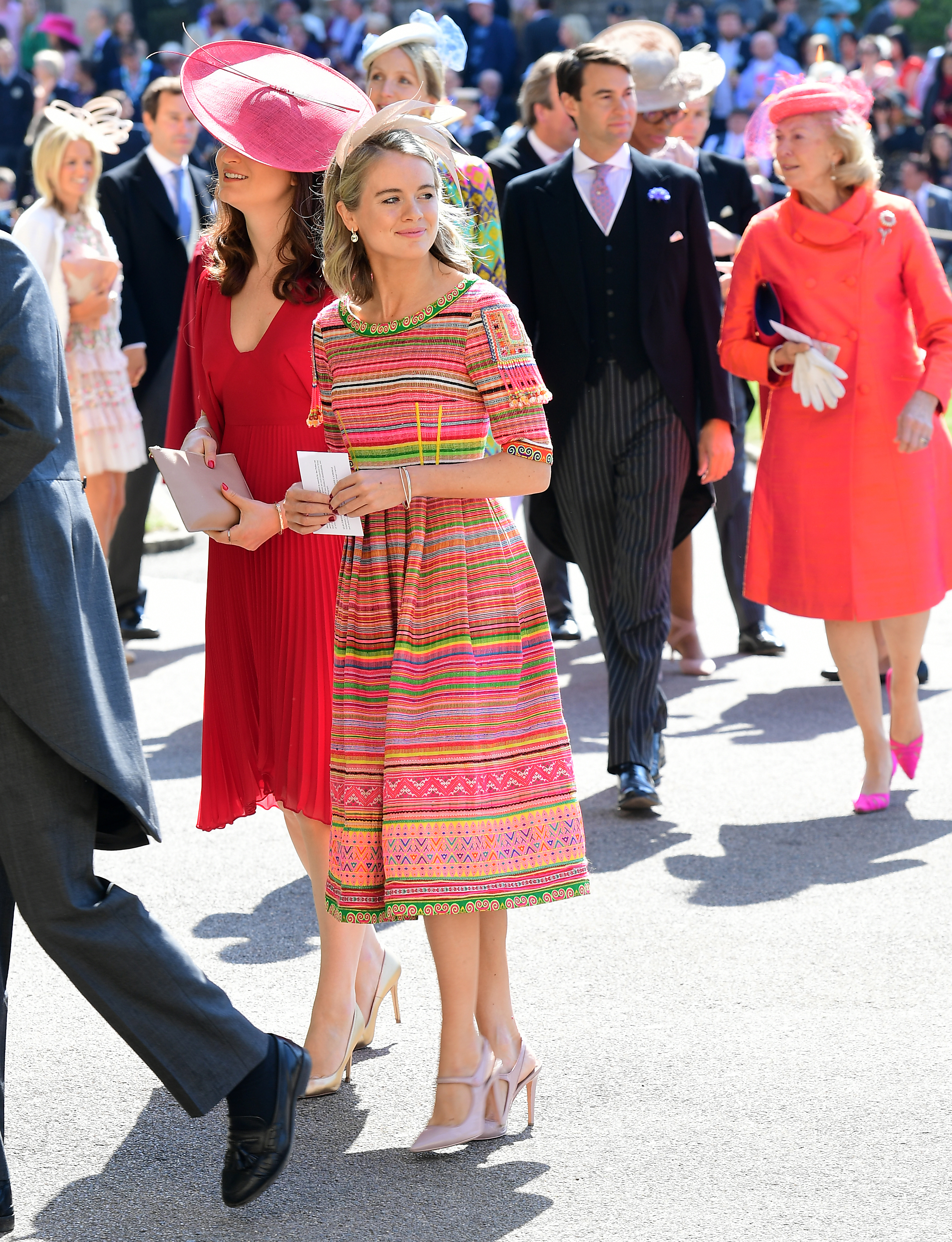 Add to lightbox Royal wedding Cressida Bonas arrives at St George's Chapel at Windsor Castle for the wedding of Meghan Markle and Prince Harry. (Ian West/PA)