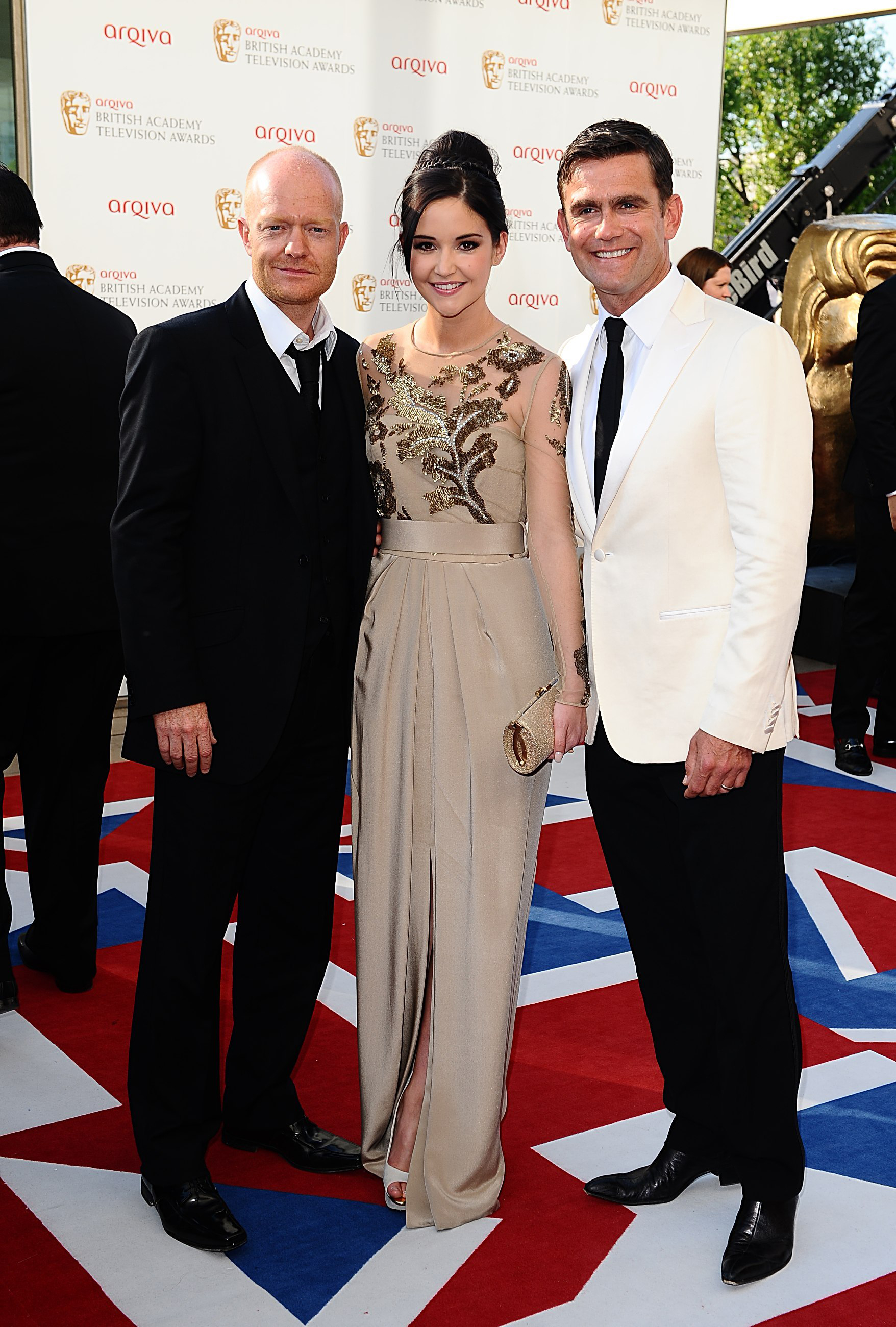 Jacqueline Jossa with (L) Jake Wood, who played her father Max Branning in Eastenders