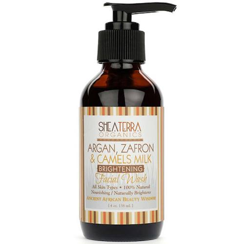 Shea Terra Organics Argan Zafran and Camel's Milk Facial Wash