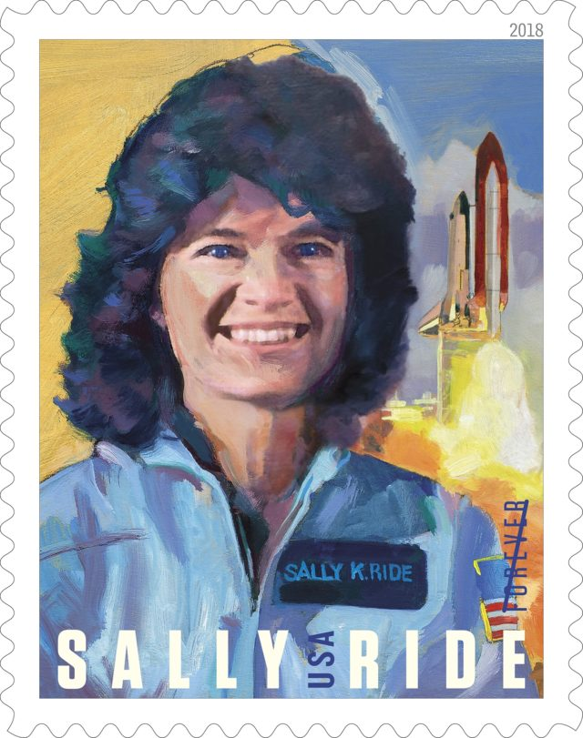 Sally Ride stamp.