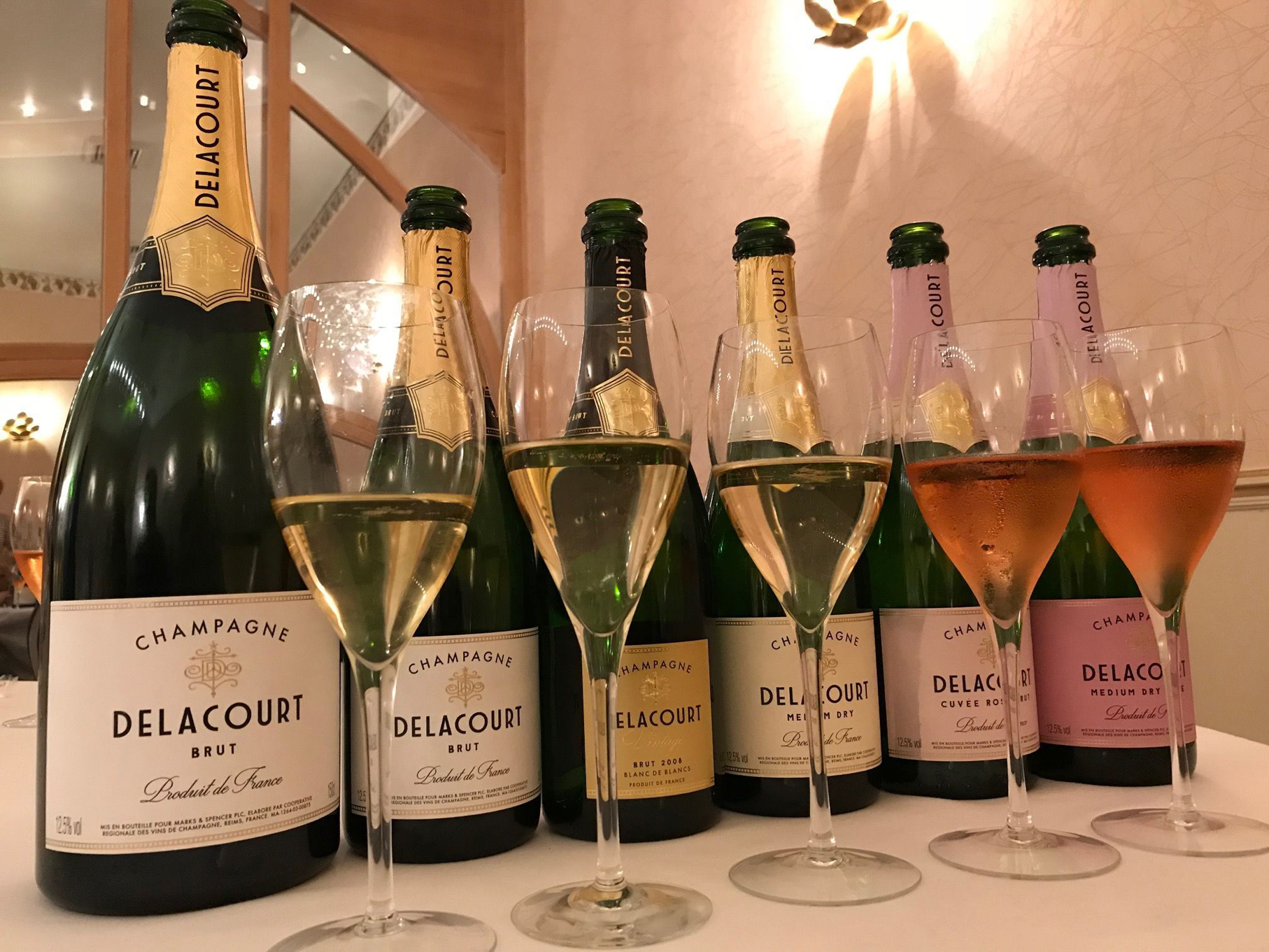 Delacort range of champagnes, Marks & Spencer