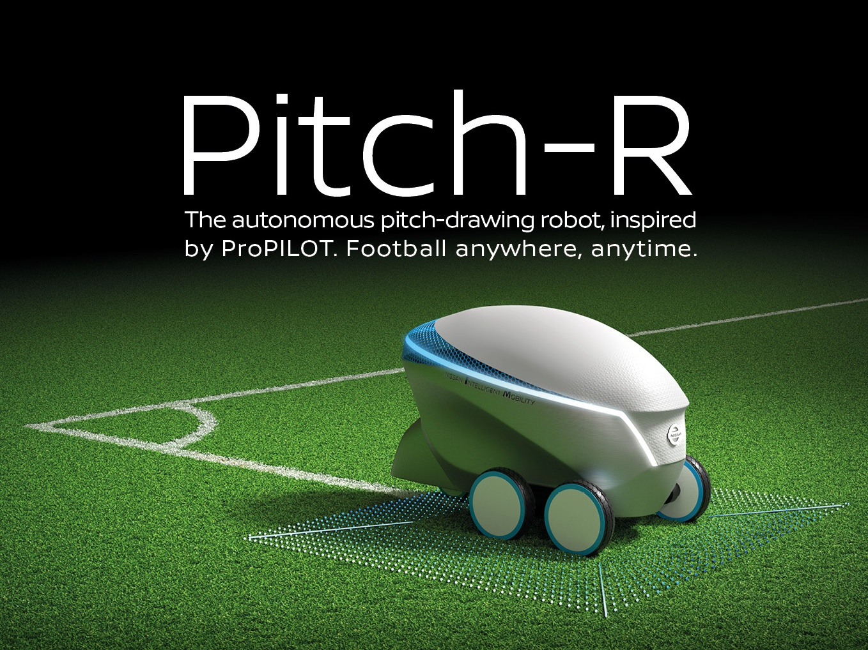 Nissan Pitch R Robot Draw Eco Friendly Football Pitch
