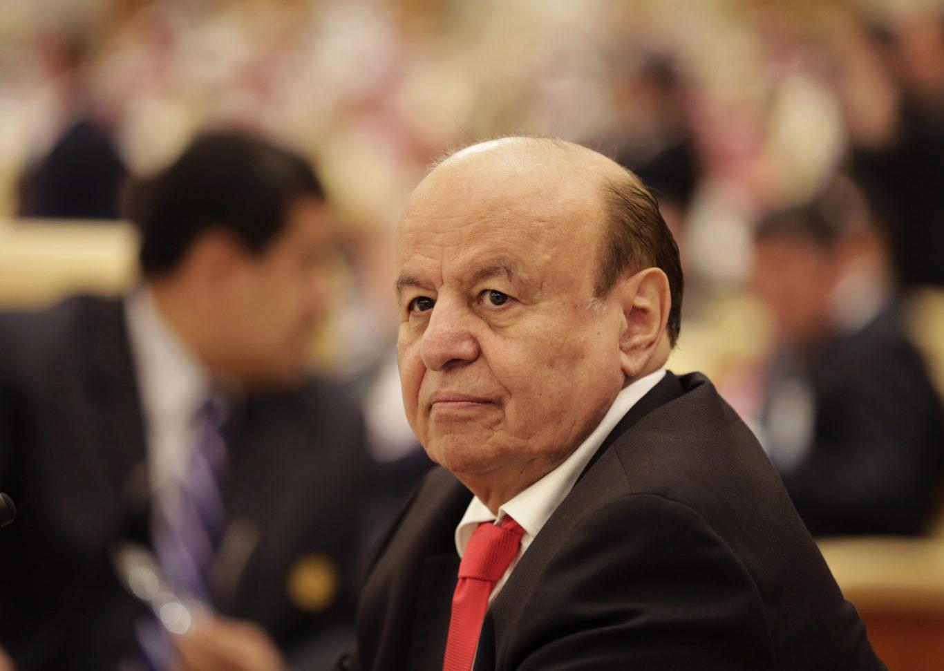 The president of Yemen Abed Rabbo Mansour Hadi