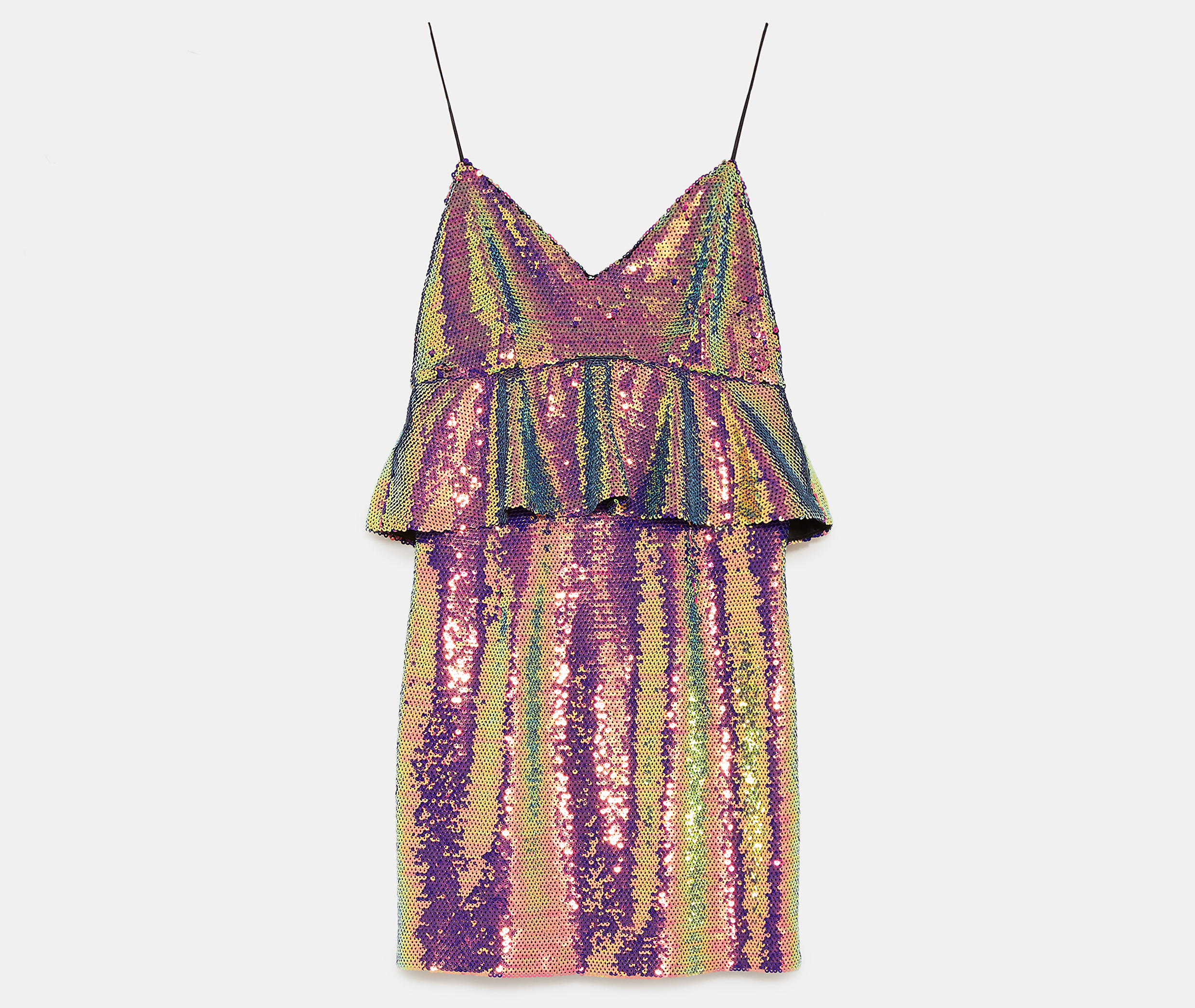 Zara Multicoloured Sequin Dress