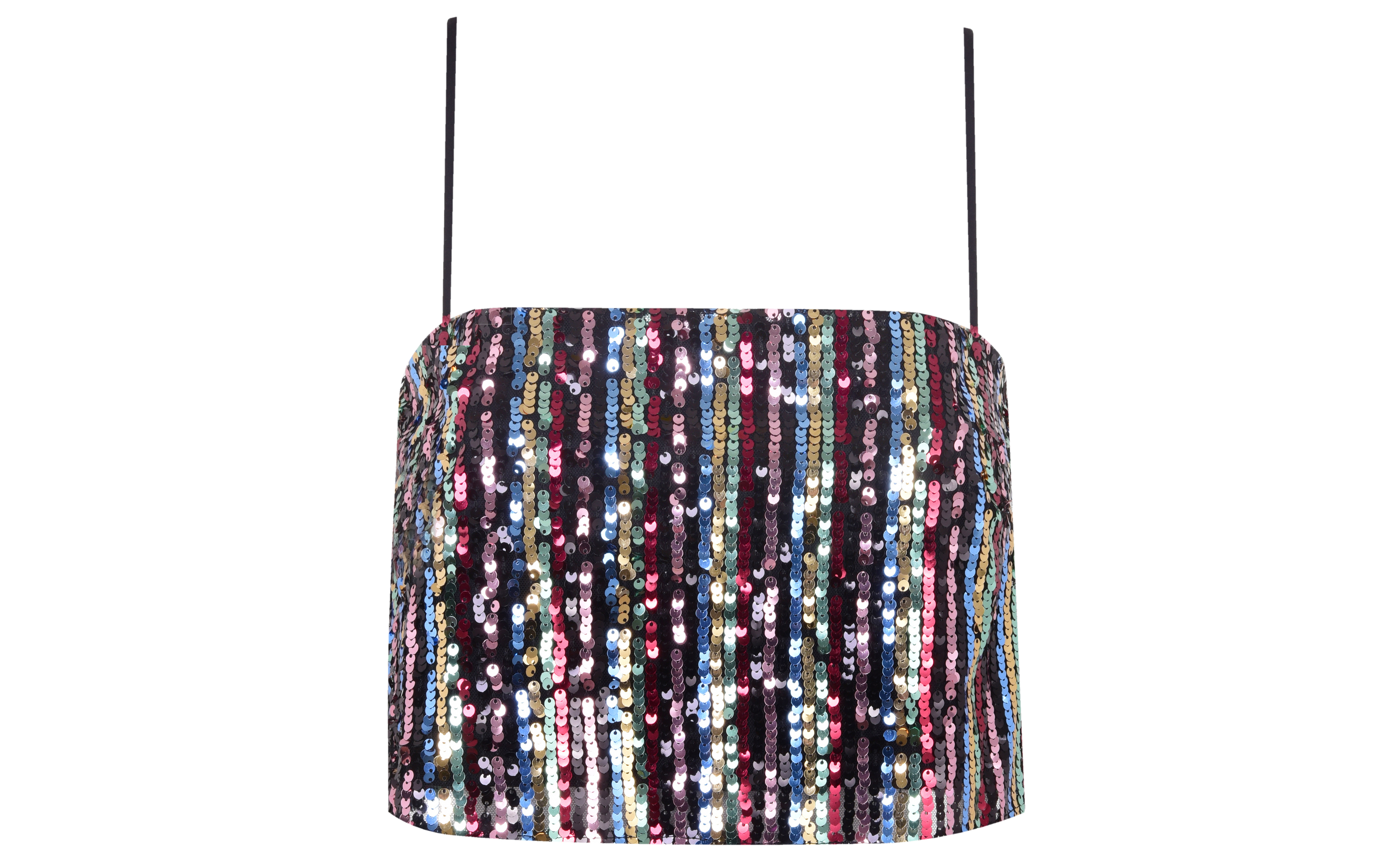 Miss Selfridge Sequin Stripe Festival Camisole Top