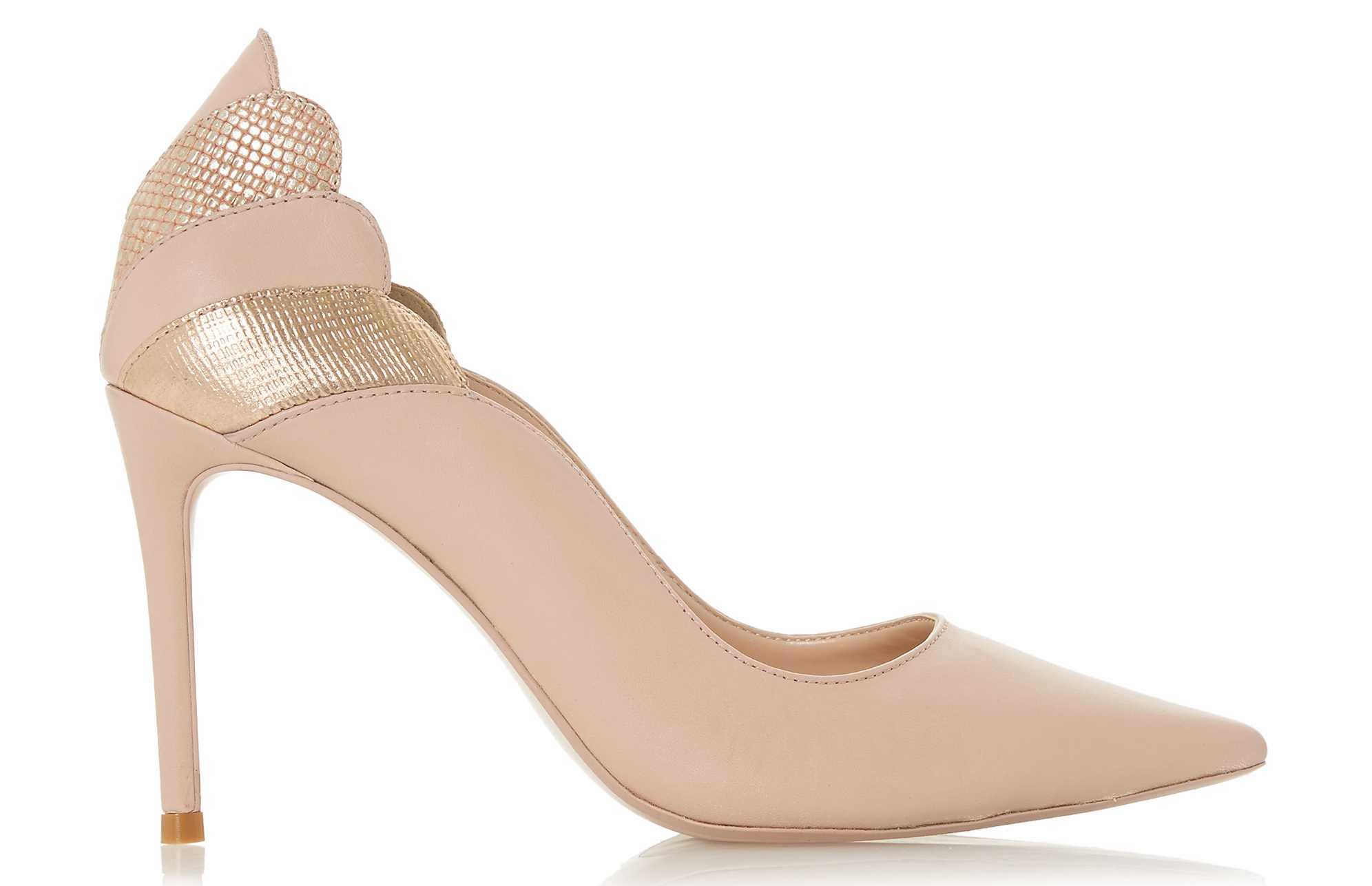 Dune Aerielle Blush Scallop Back Court Shoes