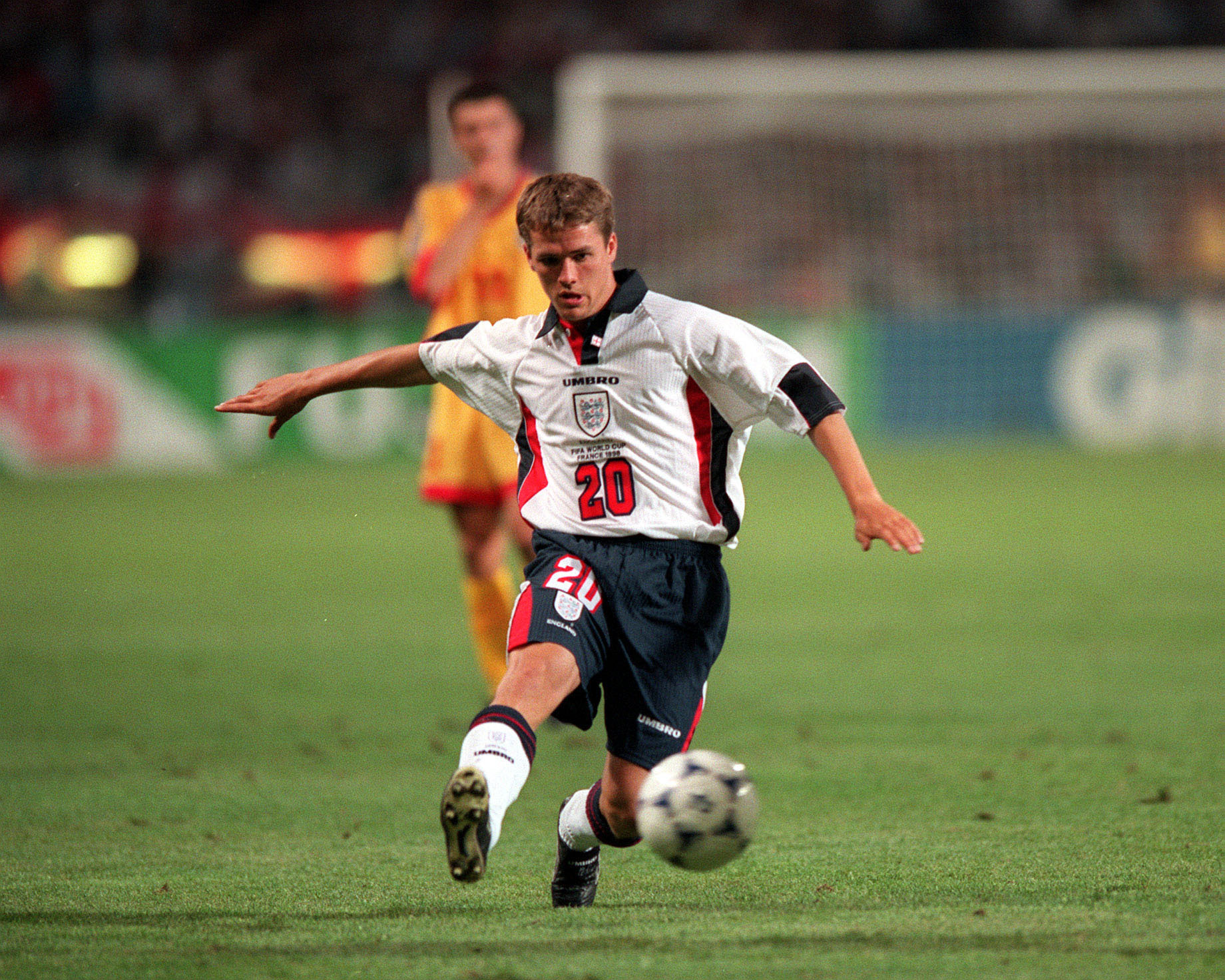 England's Michael Owen at the 1998 World Cup