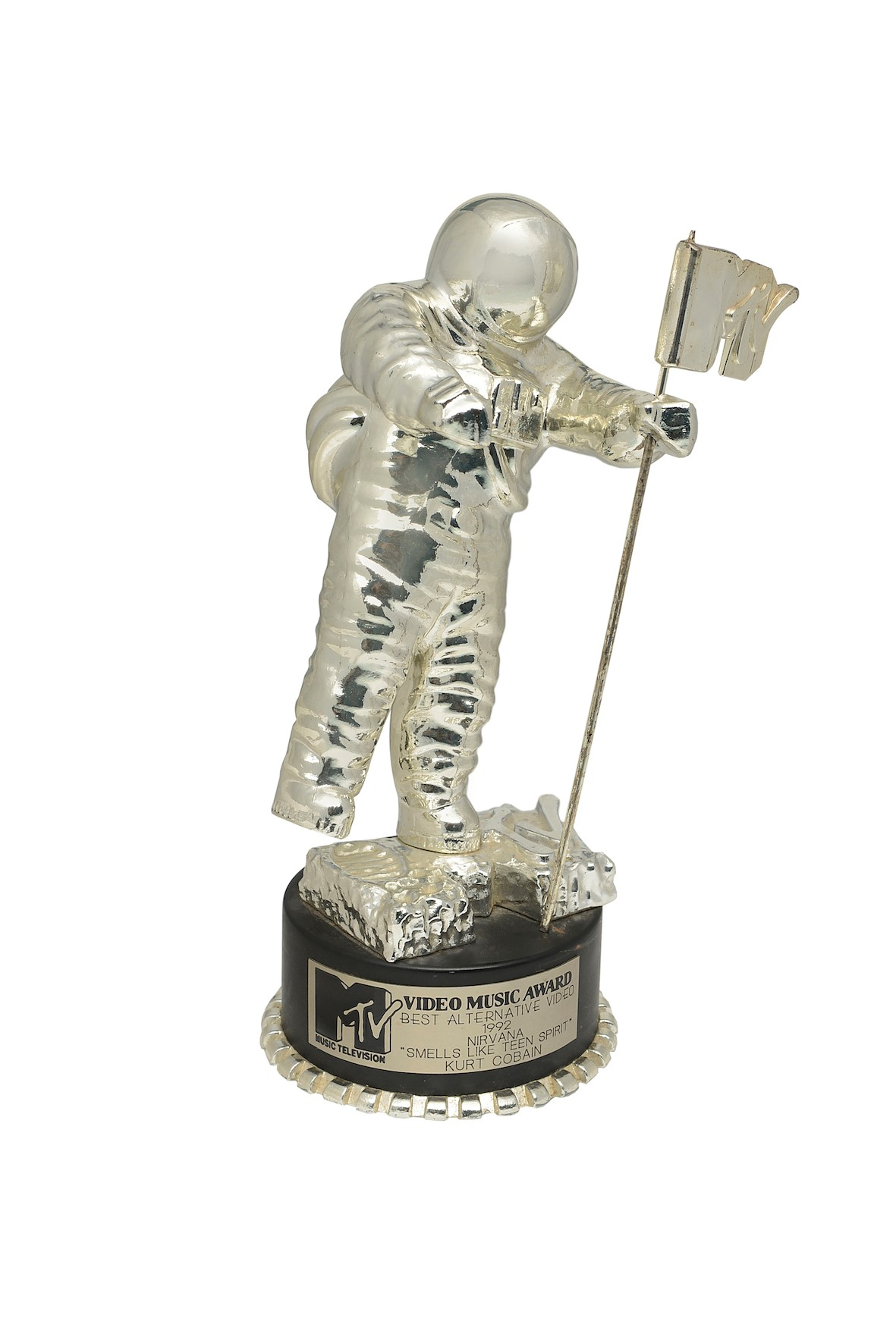 The MTV video award for Smells Like Teen Spirit