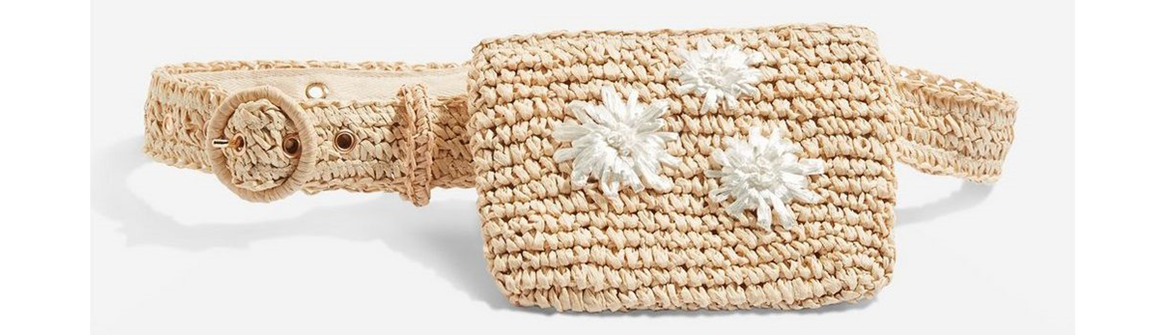 Topshop Brighton Straw Belt Bag