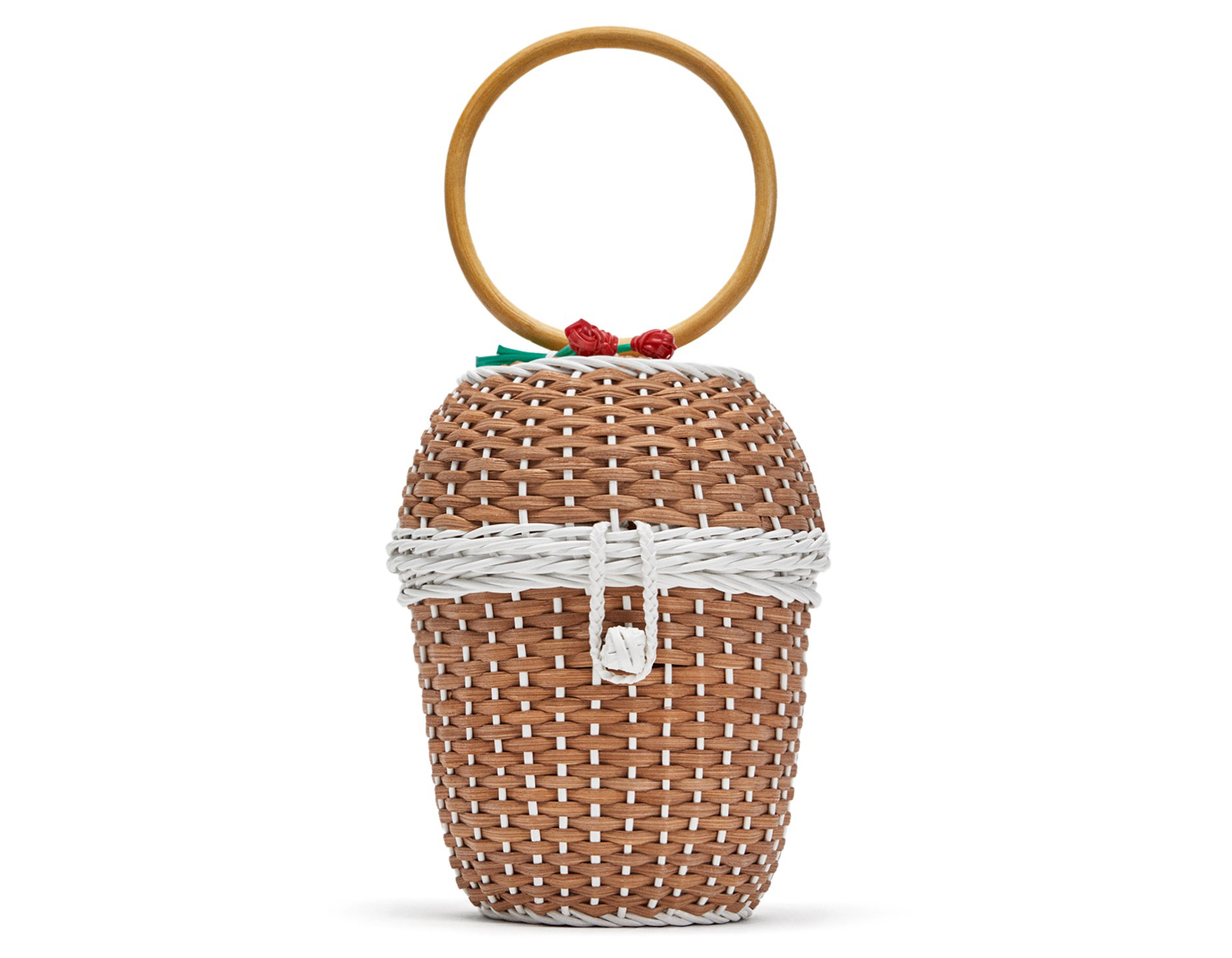 Zara Basket with Floral Detail