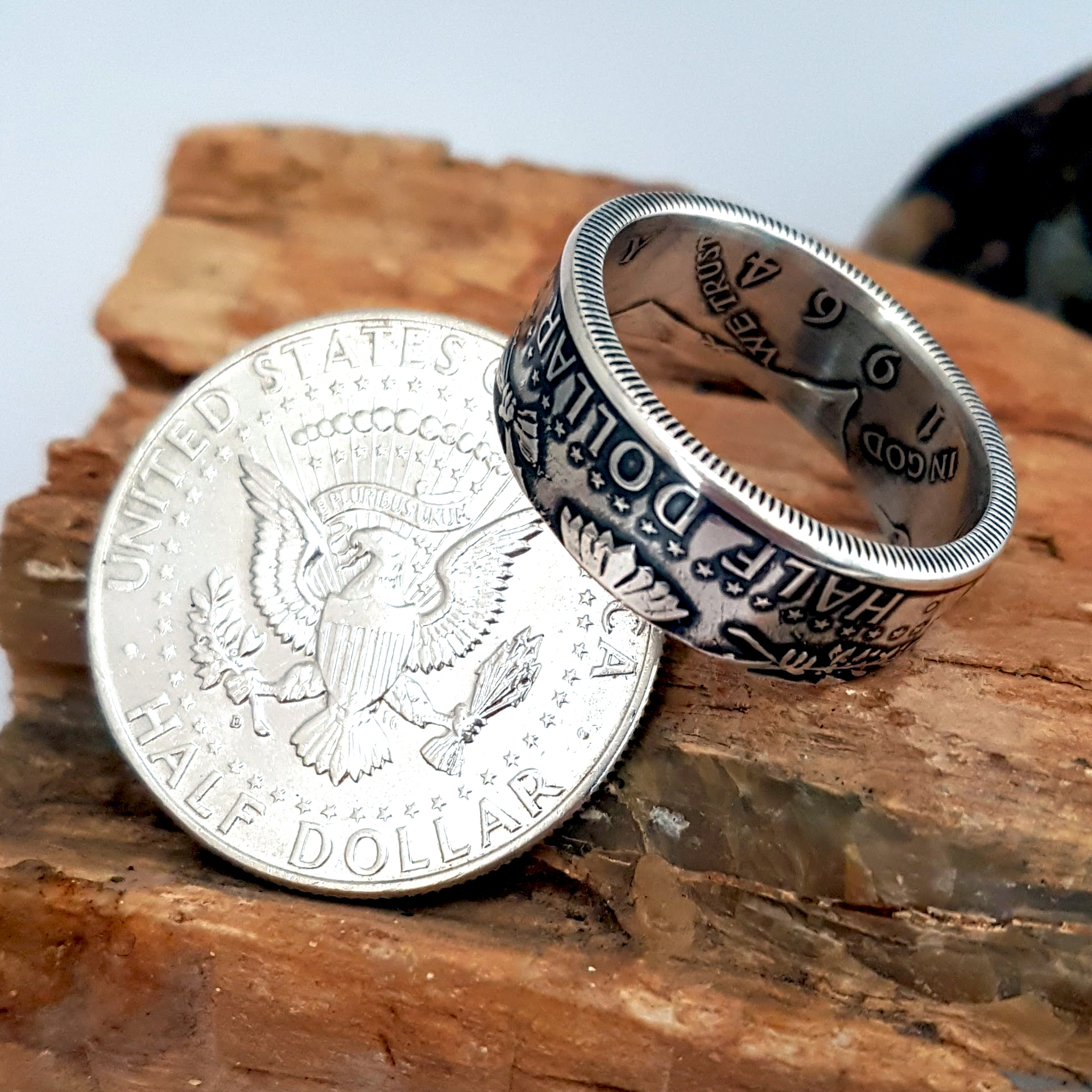A US coin made into a ring by Celtic Coin Crafts