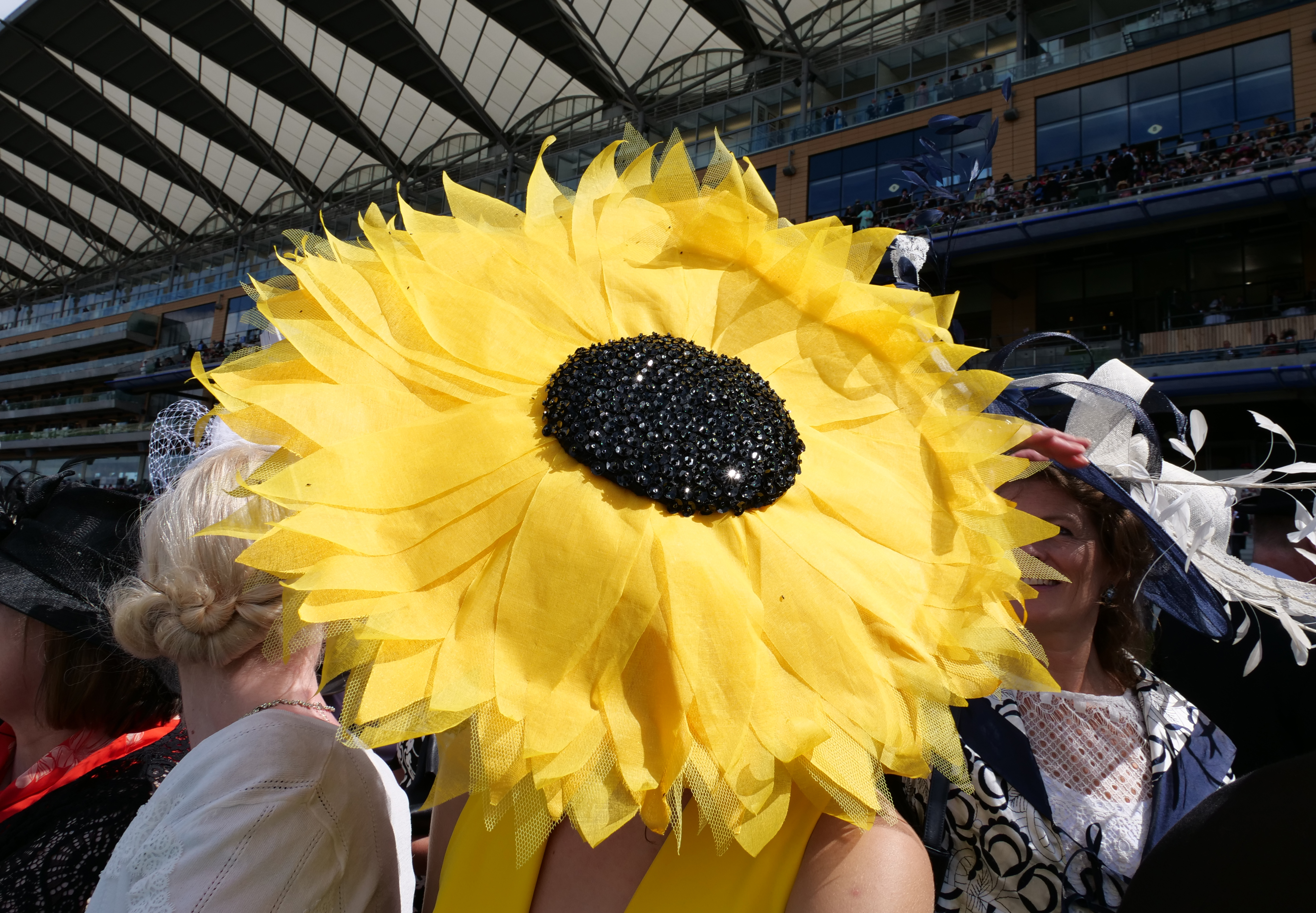 Flower hat at Ascot