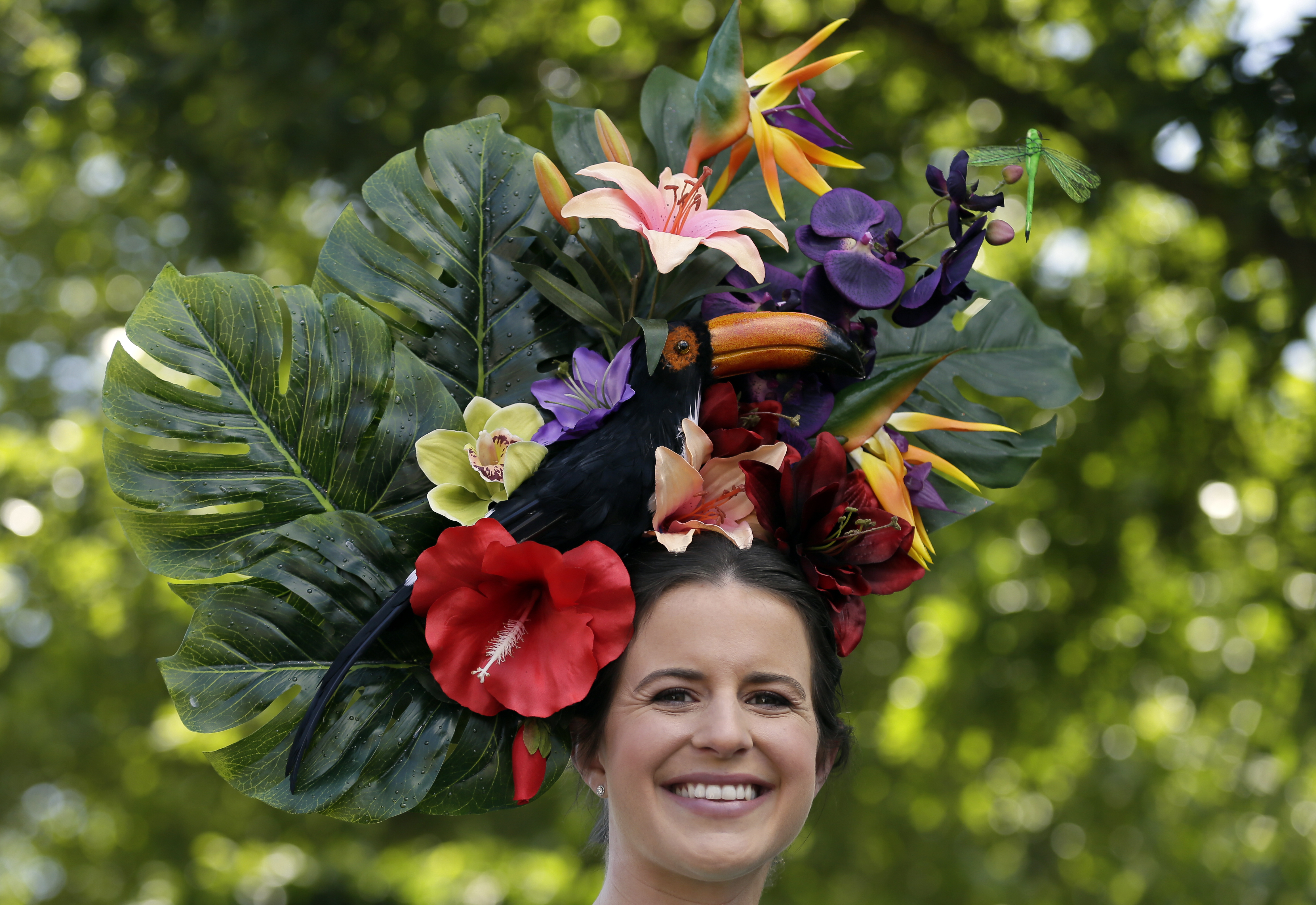 Floral hat at Ascot