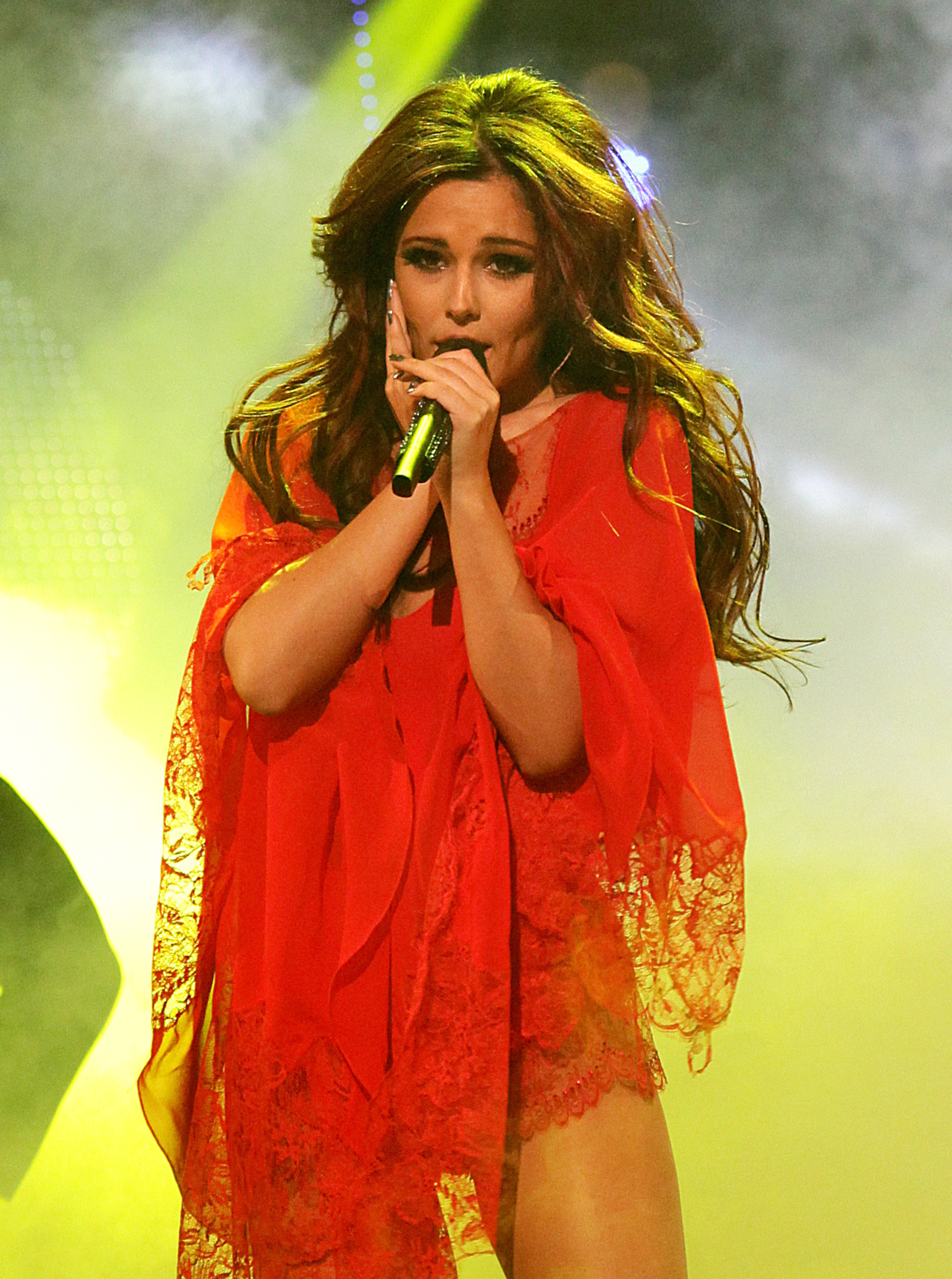 Cheryl Cole performs on stage during the BBC Children In Need Appeal 2010