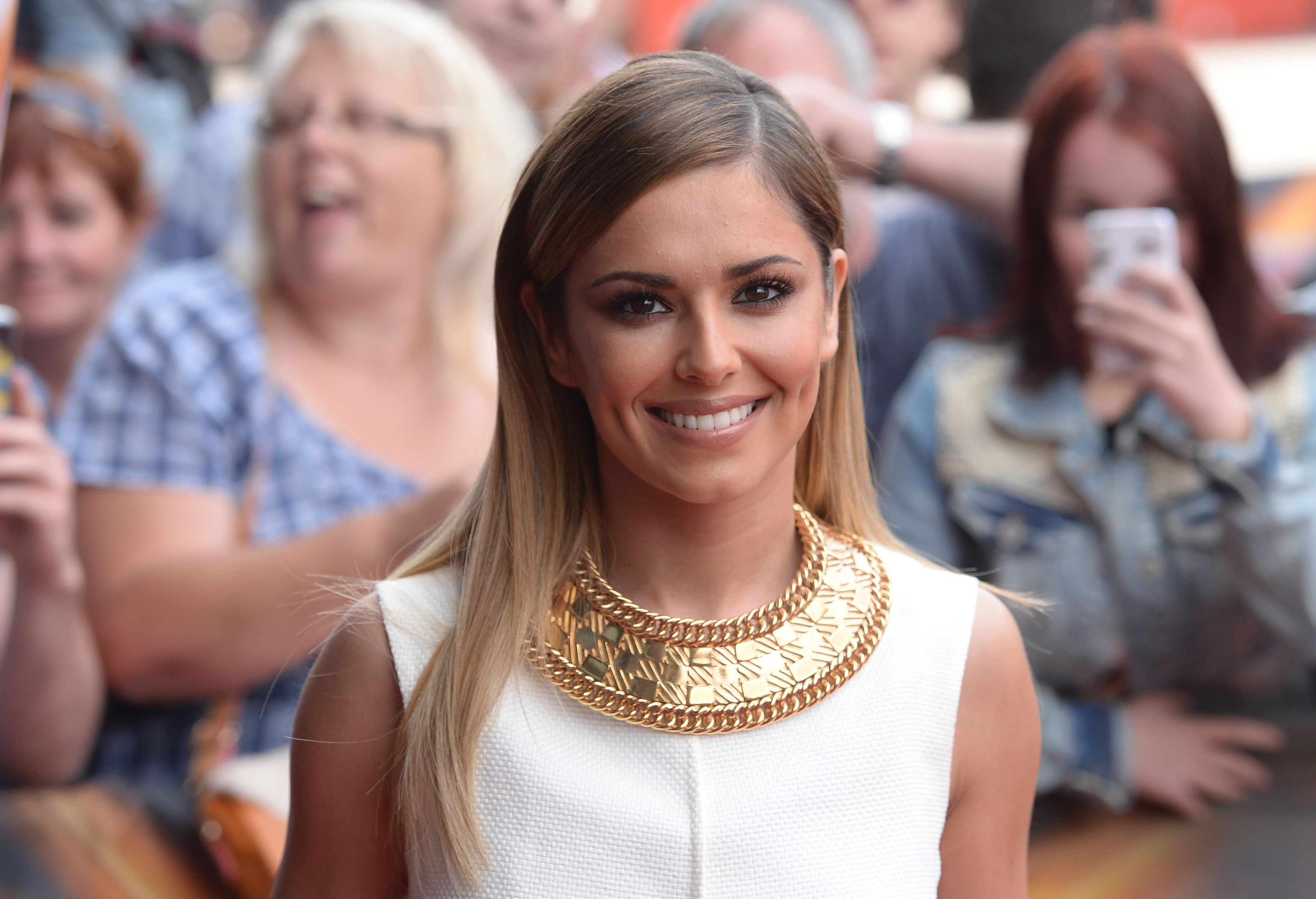 Judge Cheryl Cole arrives at the X Factor auditions, at the Emirates stadium in London.