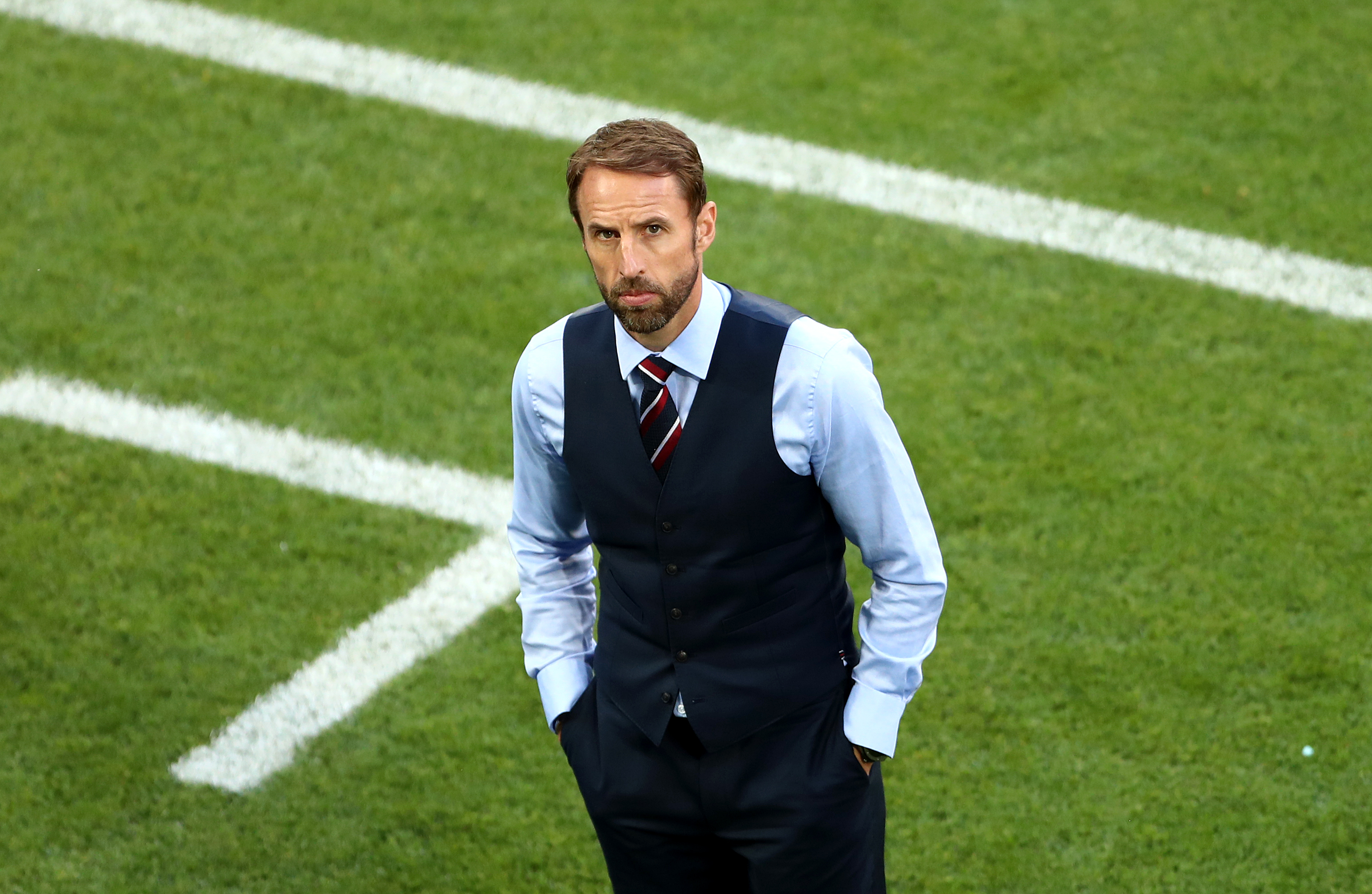 England manager Gareth Southgate before the game. Tim Goode/PA Wire.