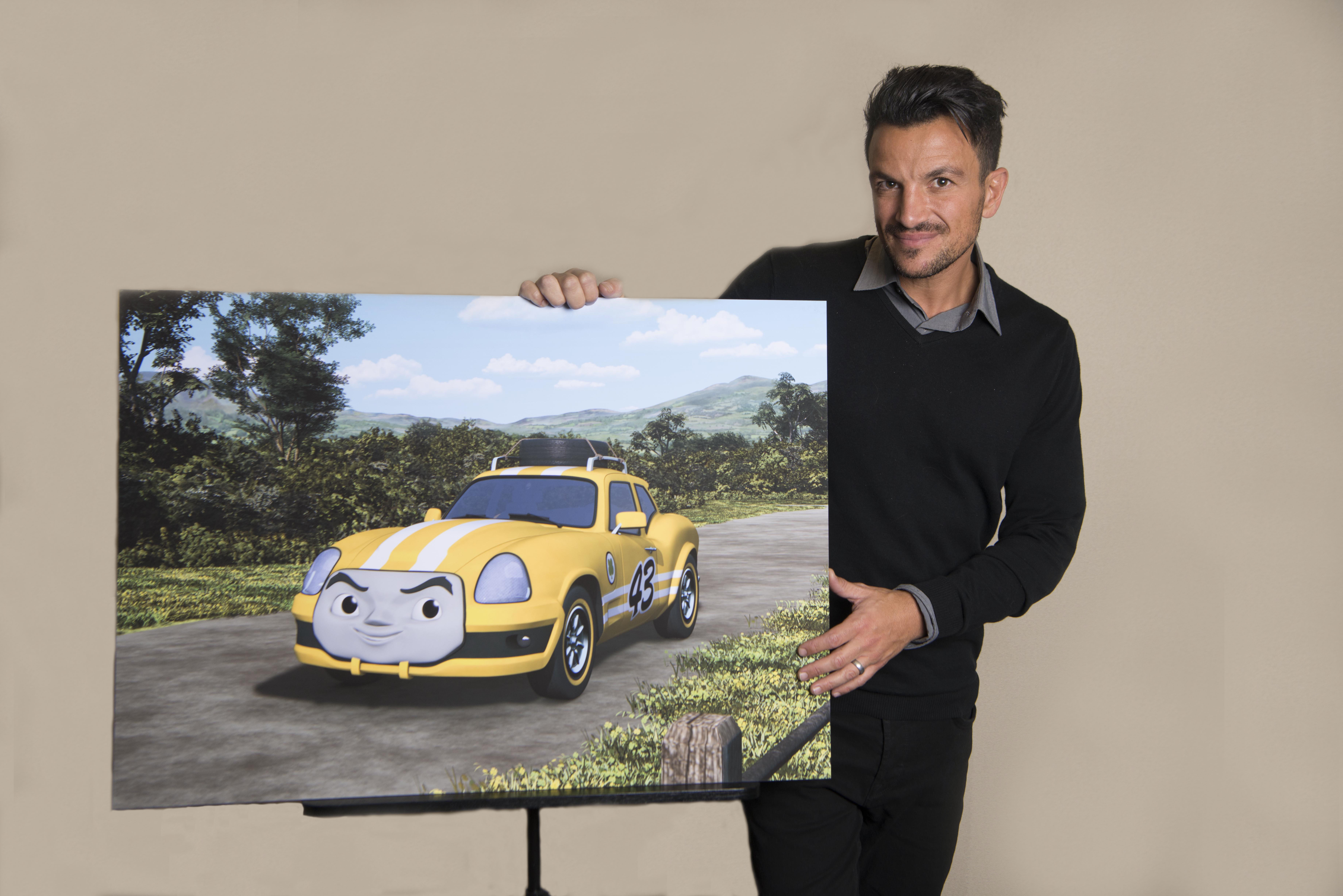 Peter Andre voices Ace the racing car (Hit Entertainment/PA)