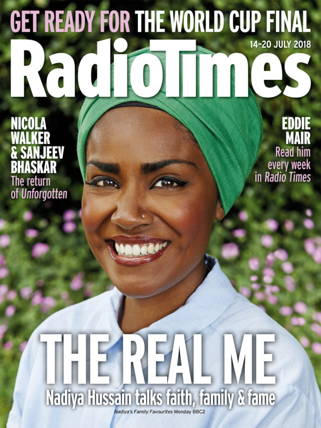 Nadiya Hussain on the cover of the Radio Times