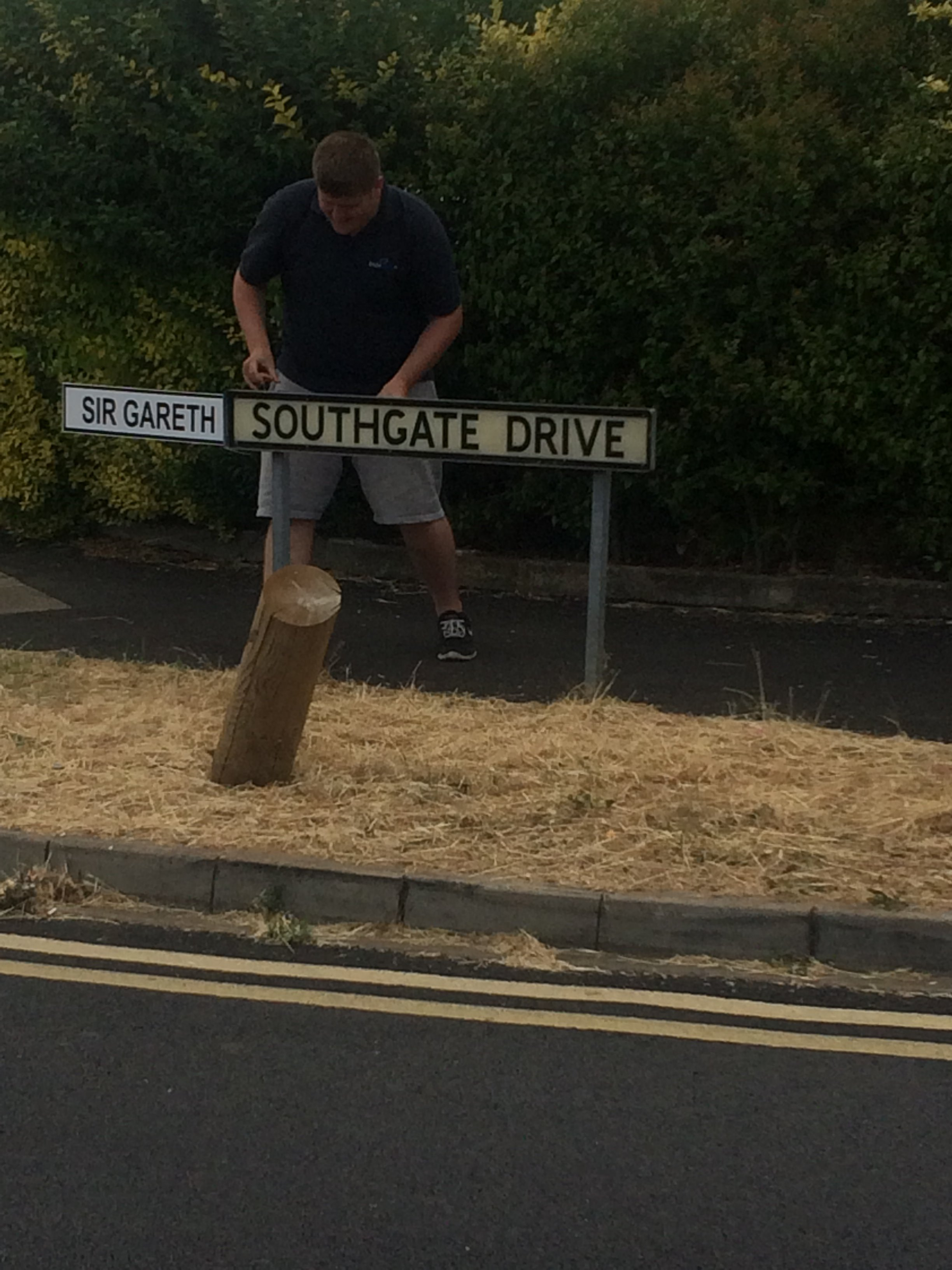 A sign for Southgate Drive in Kettering is given a new look