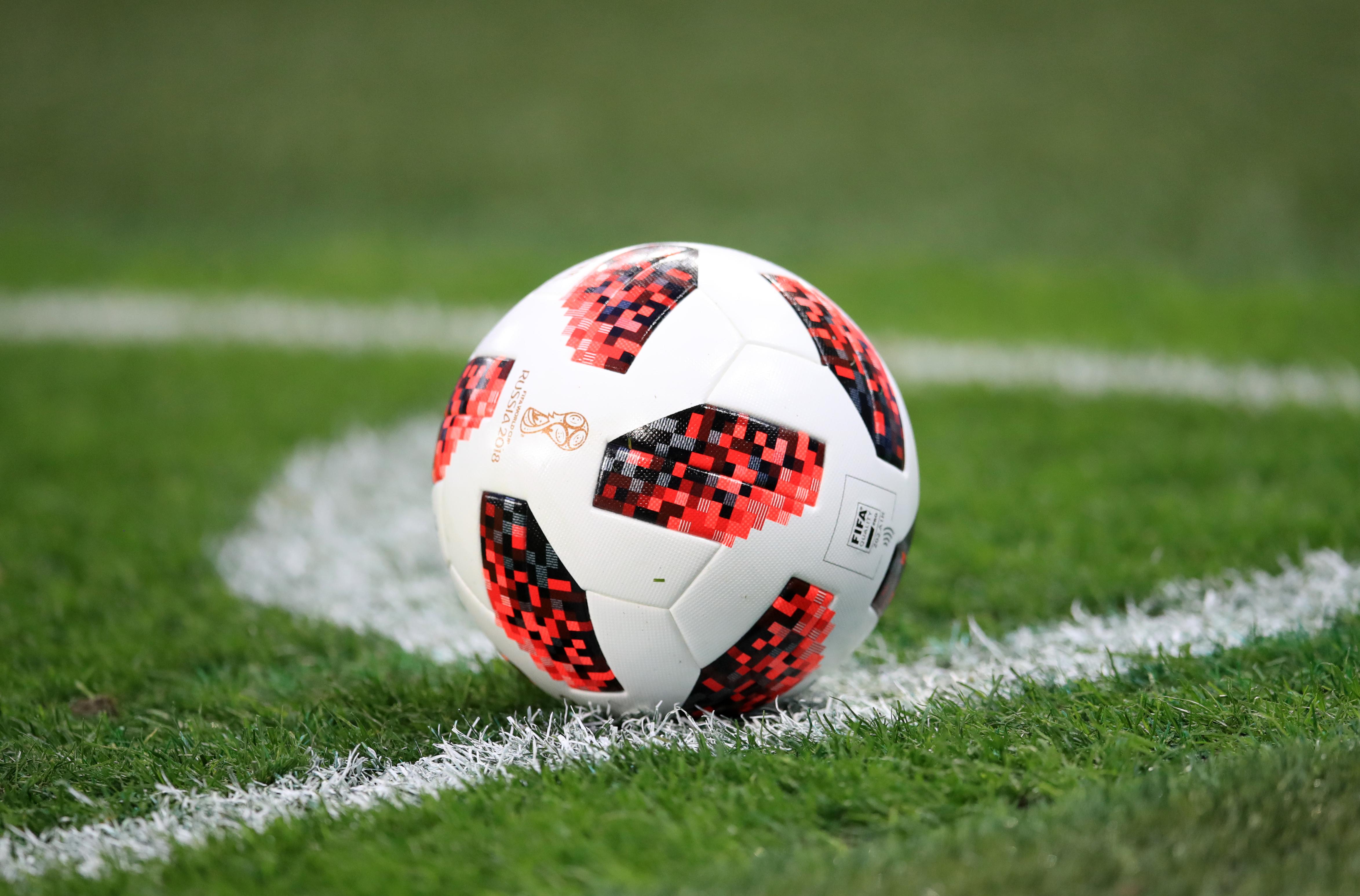 A general view of an Adidas Telstar match ball