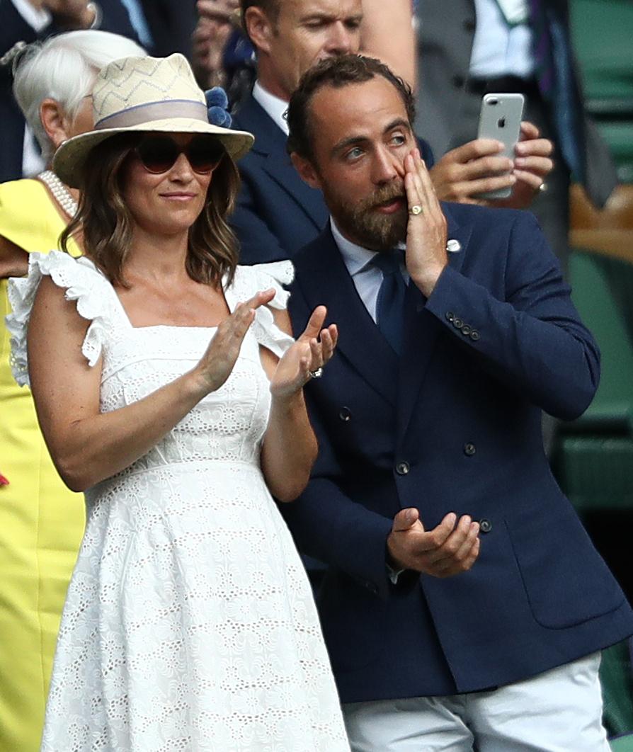 Pippa Matthews and James Middleton