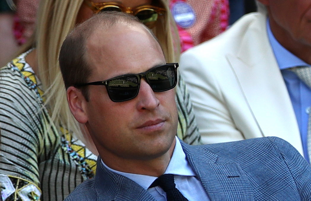 The Duke and Duchess of Cambridge in the royal box on centre court on day thirteen of the Wimbledon Championships at the All England Lawn Tennis and Croquet Club, Wimbledon.