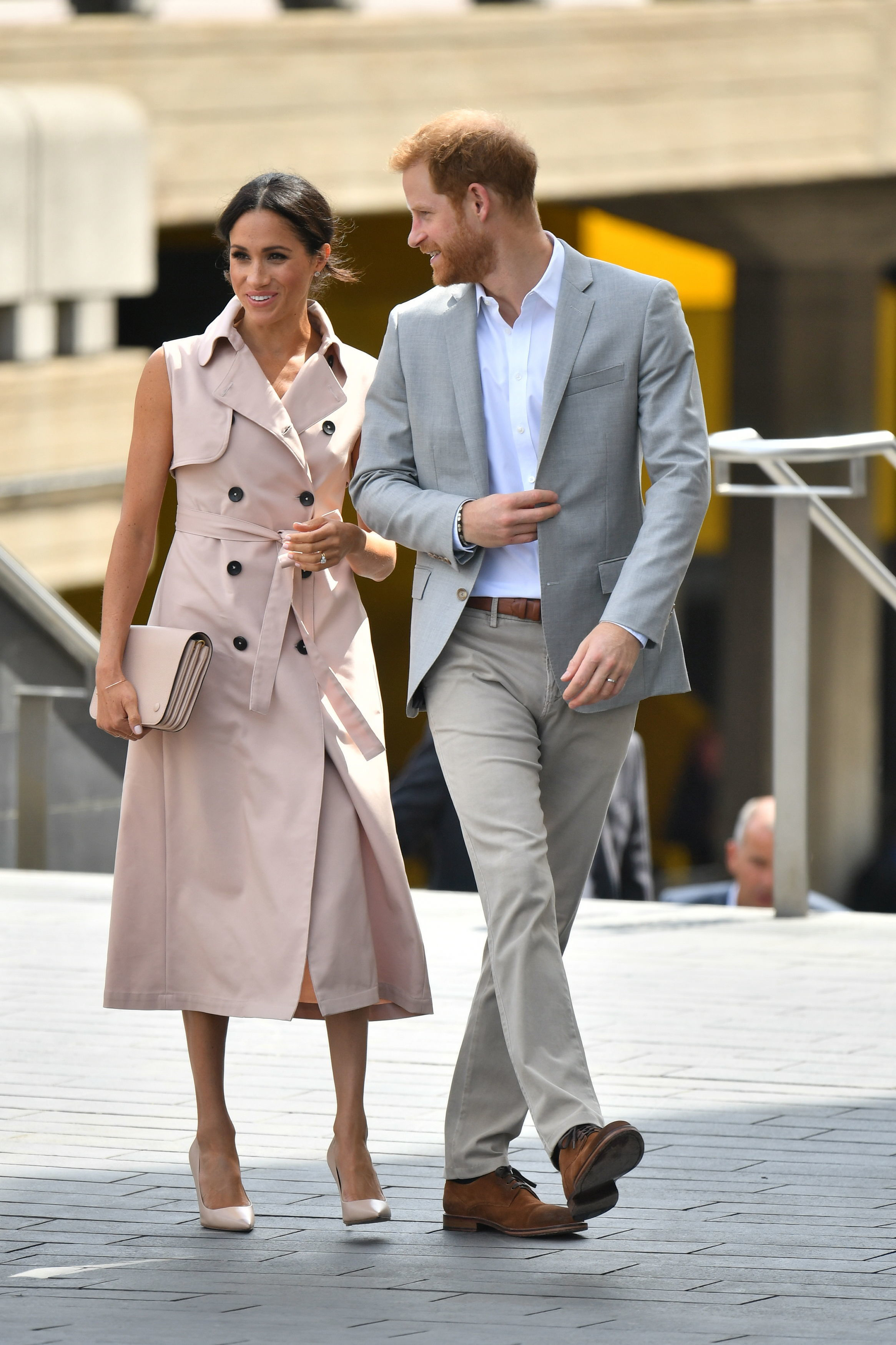 The Duke and Duchess of Sussex arrive for their visit to the Nelson Mandela centenary exhibition at the Southbank Centre's Queen Elizabeth Hall, London.