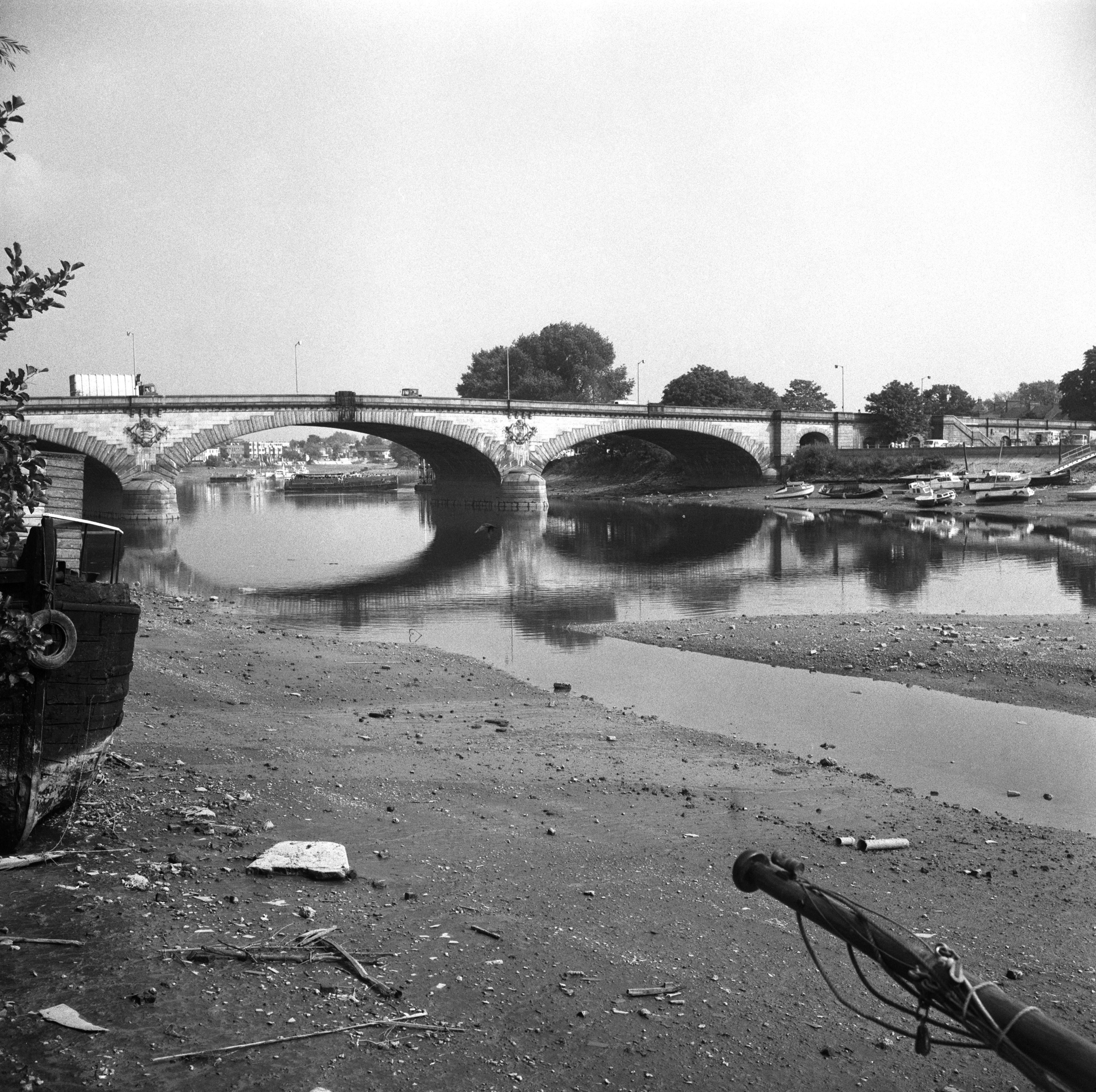 The River Thames during the drought of 1976