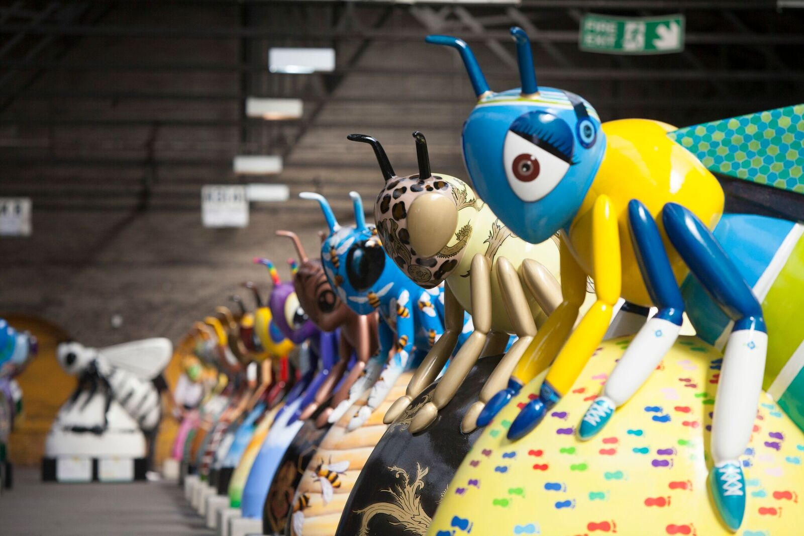 Bee in the City sculptures