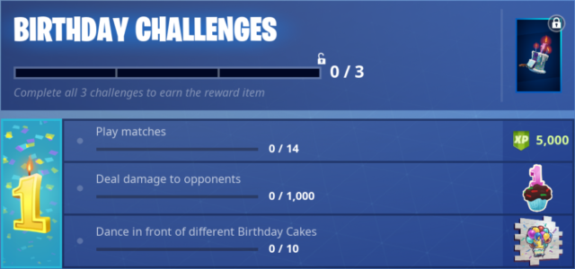 Fortnite's first birthday.