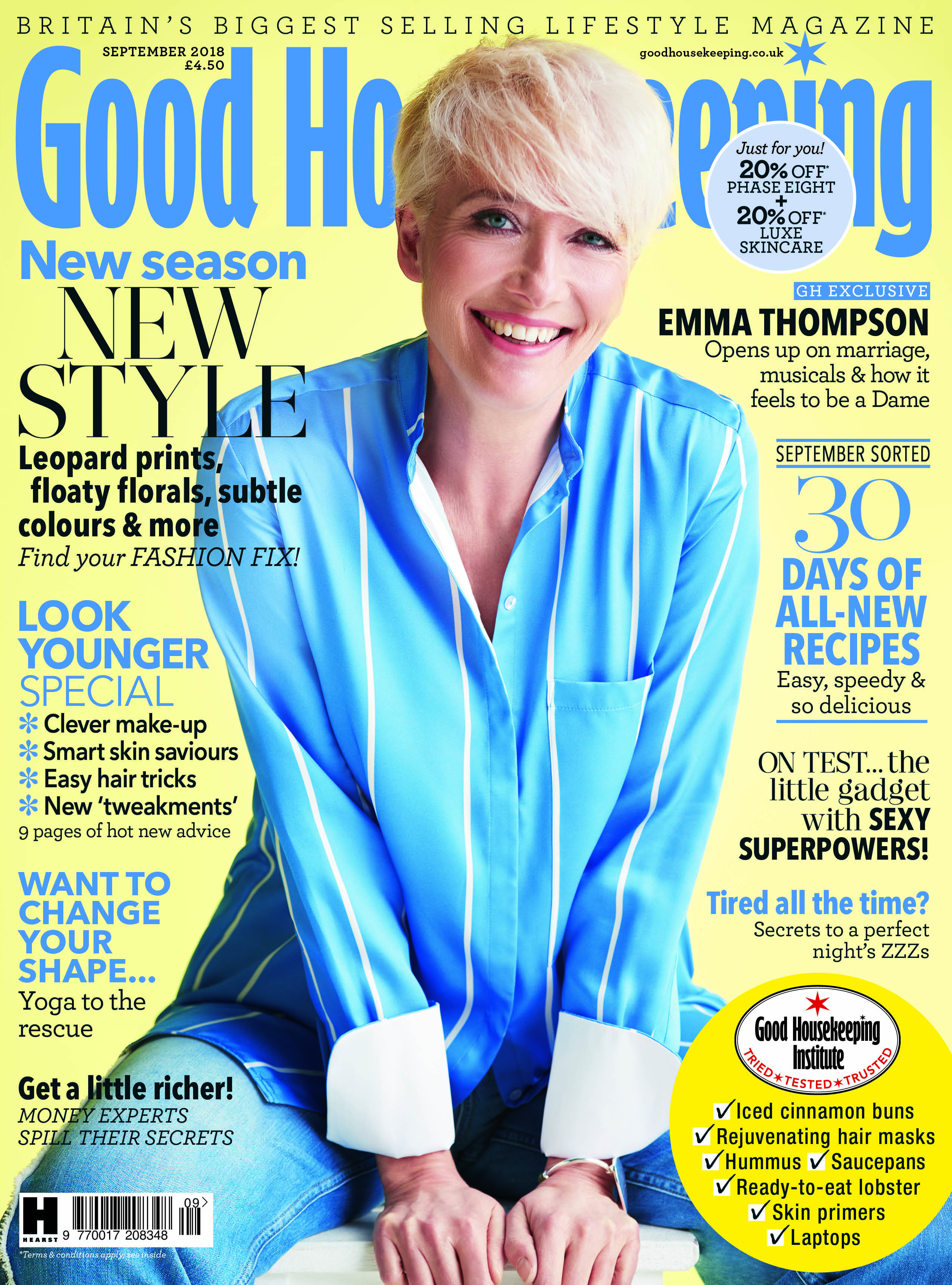Dame Emma Thompson on Good Housekeeping