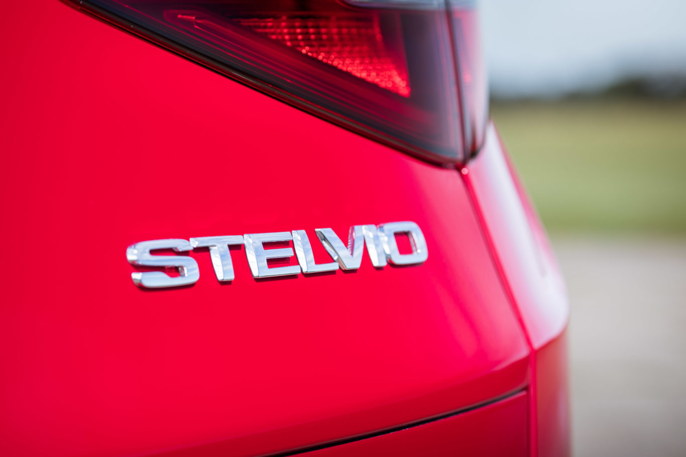 Chrome badging helps to give the Stelvio a premium look